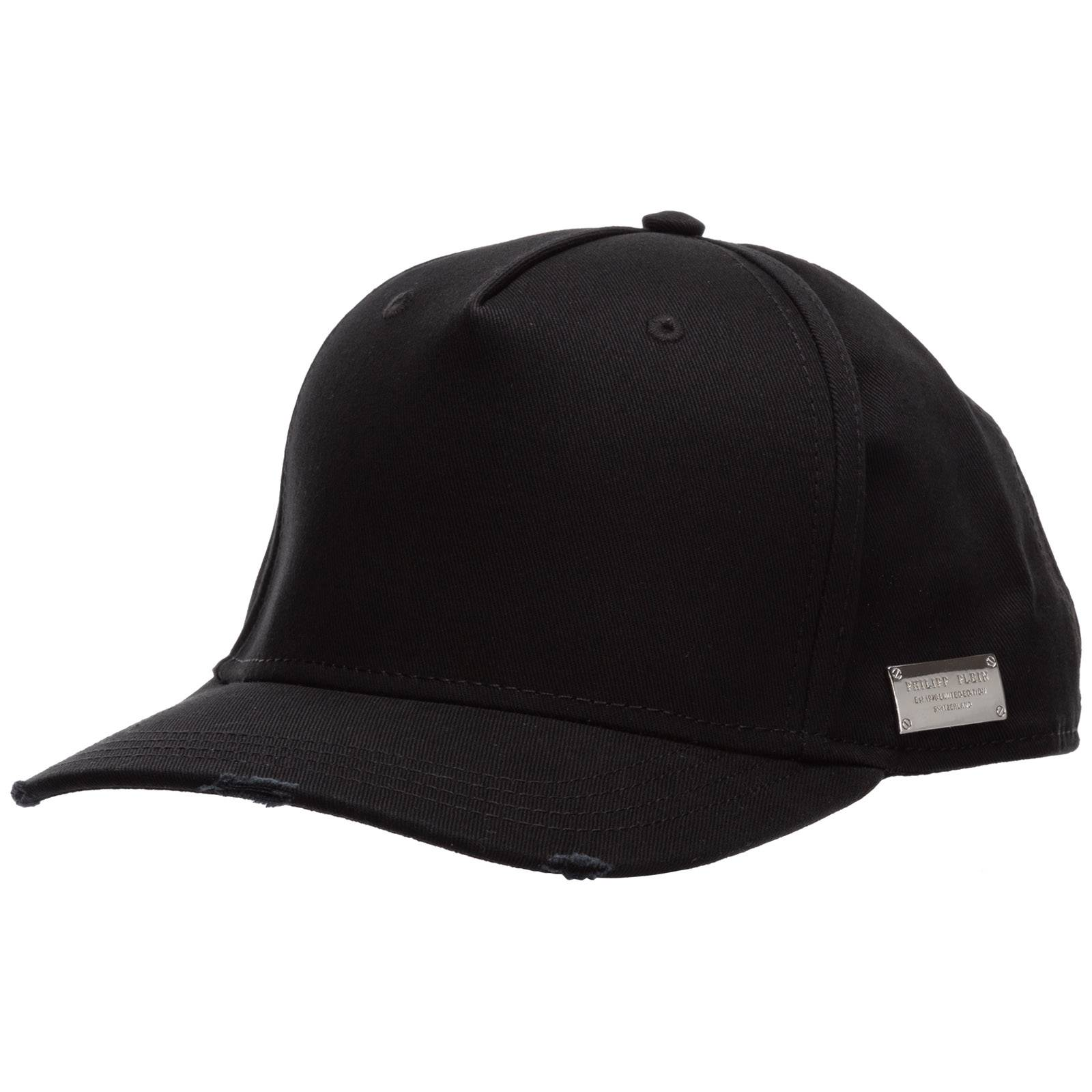 Philipp Plein Adjustable men's hat baseball cap pp hexagon  - Black