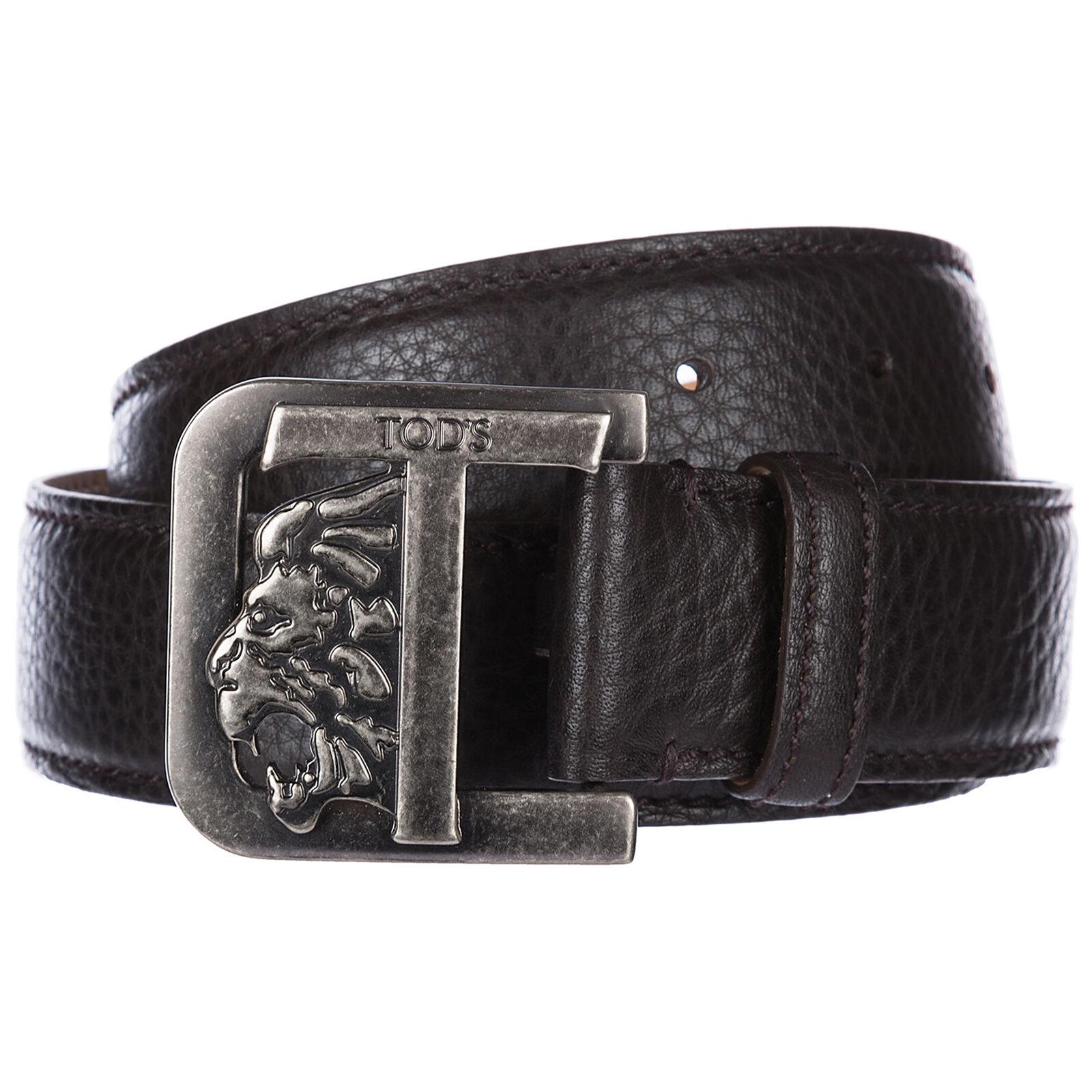 Tod's Men's genuine leather belt  - Brown - Size: 95
