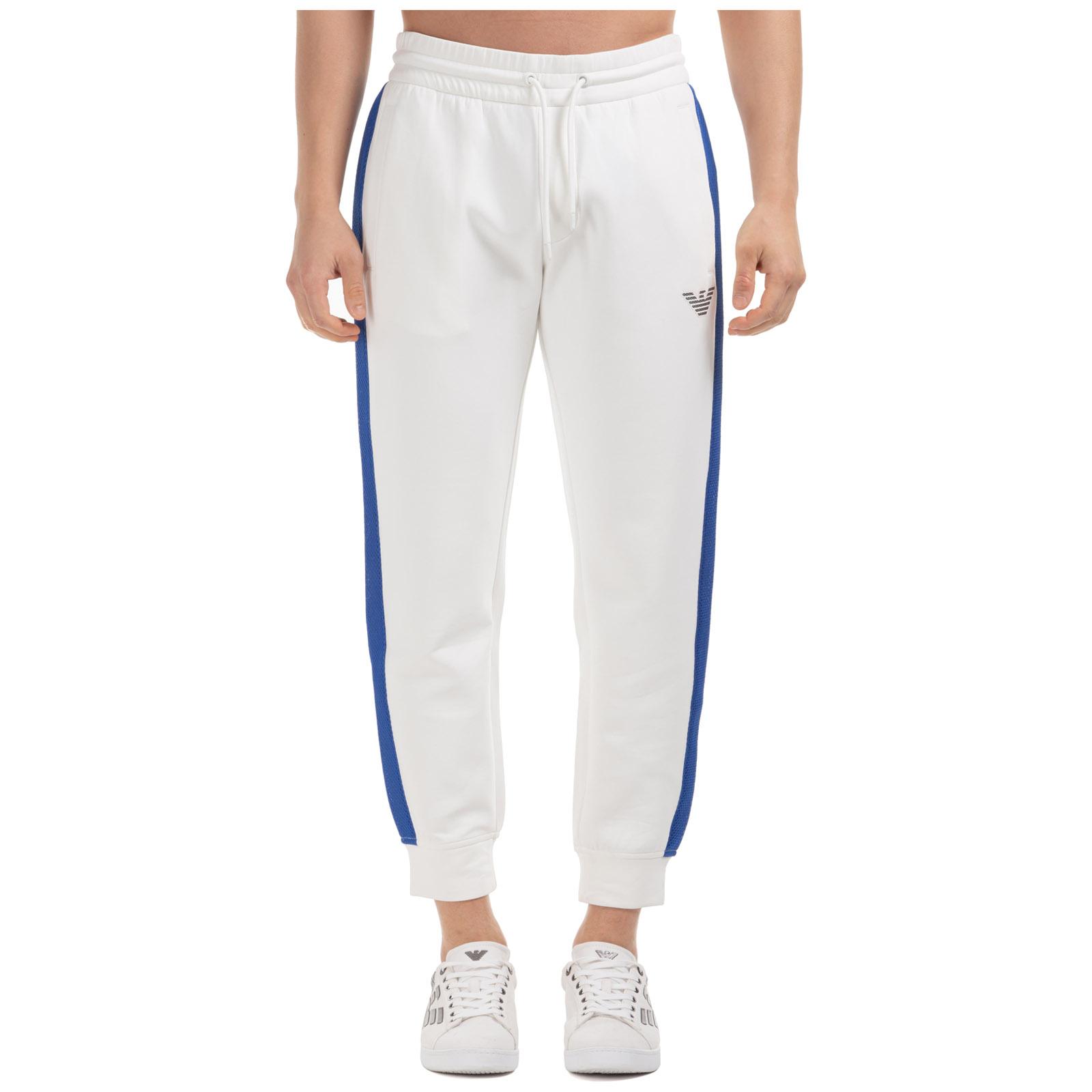 Emporio Armani Men's sport tracksuit trousers  - White - Size: Medium