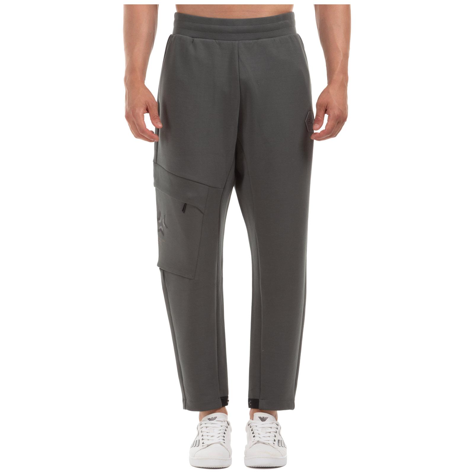 Emporio Armani Men's sport tracksuit trousers  - Green - Size: Medium