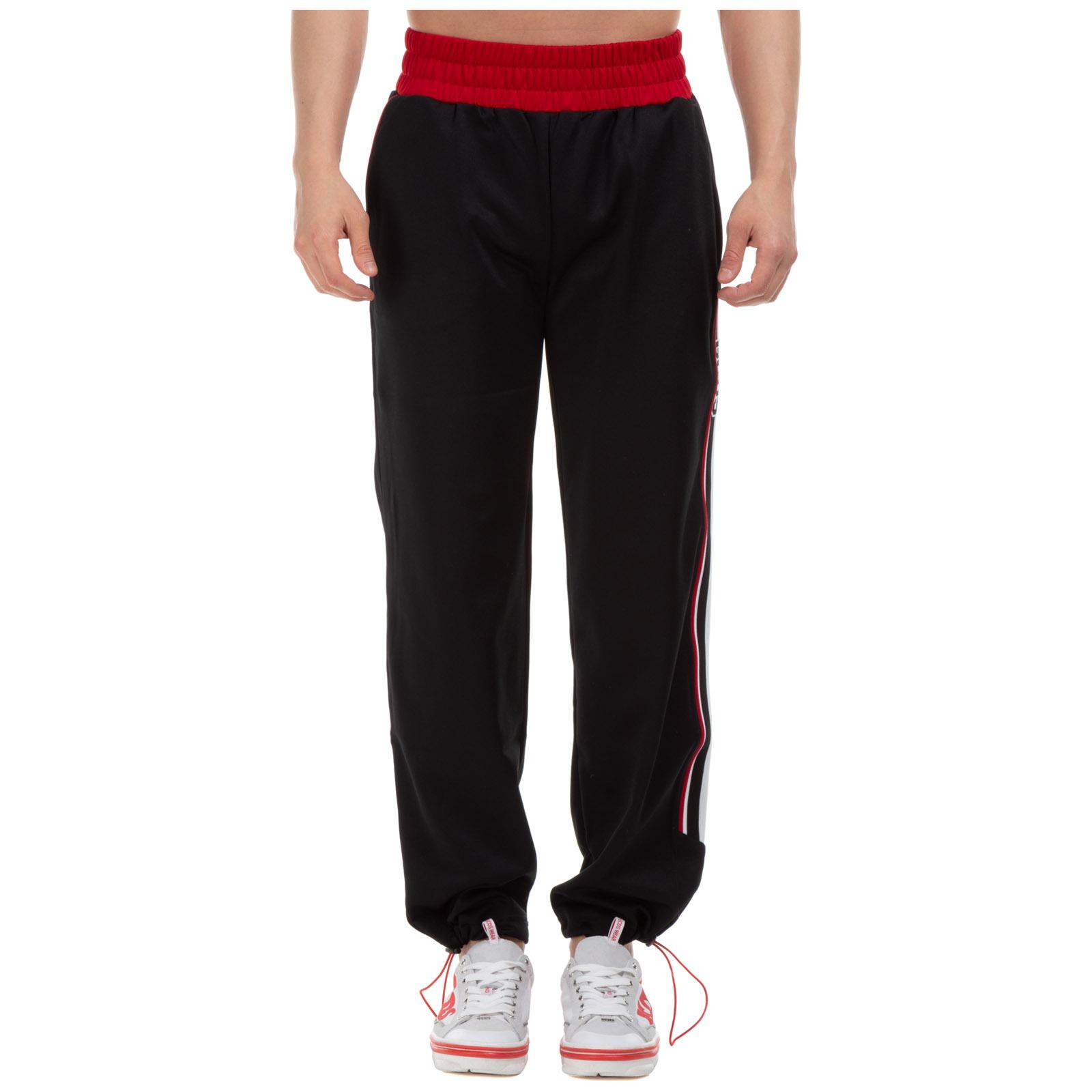 GCDS Men's sport tracksuit trousers  - Black - Size: Large