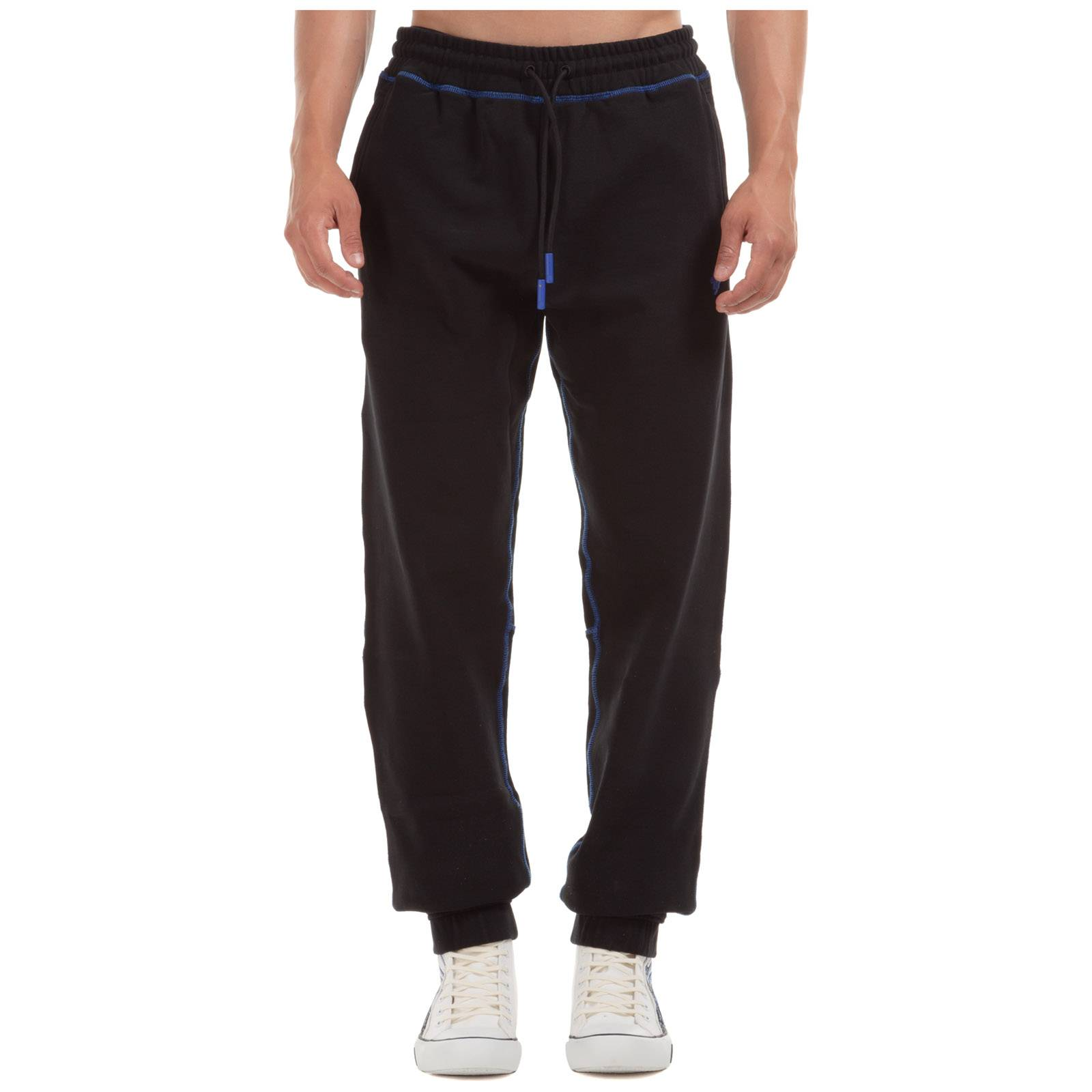 Marcelo Burlon Men's sport tracksuit trousers cross  - Black - Size: Medium