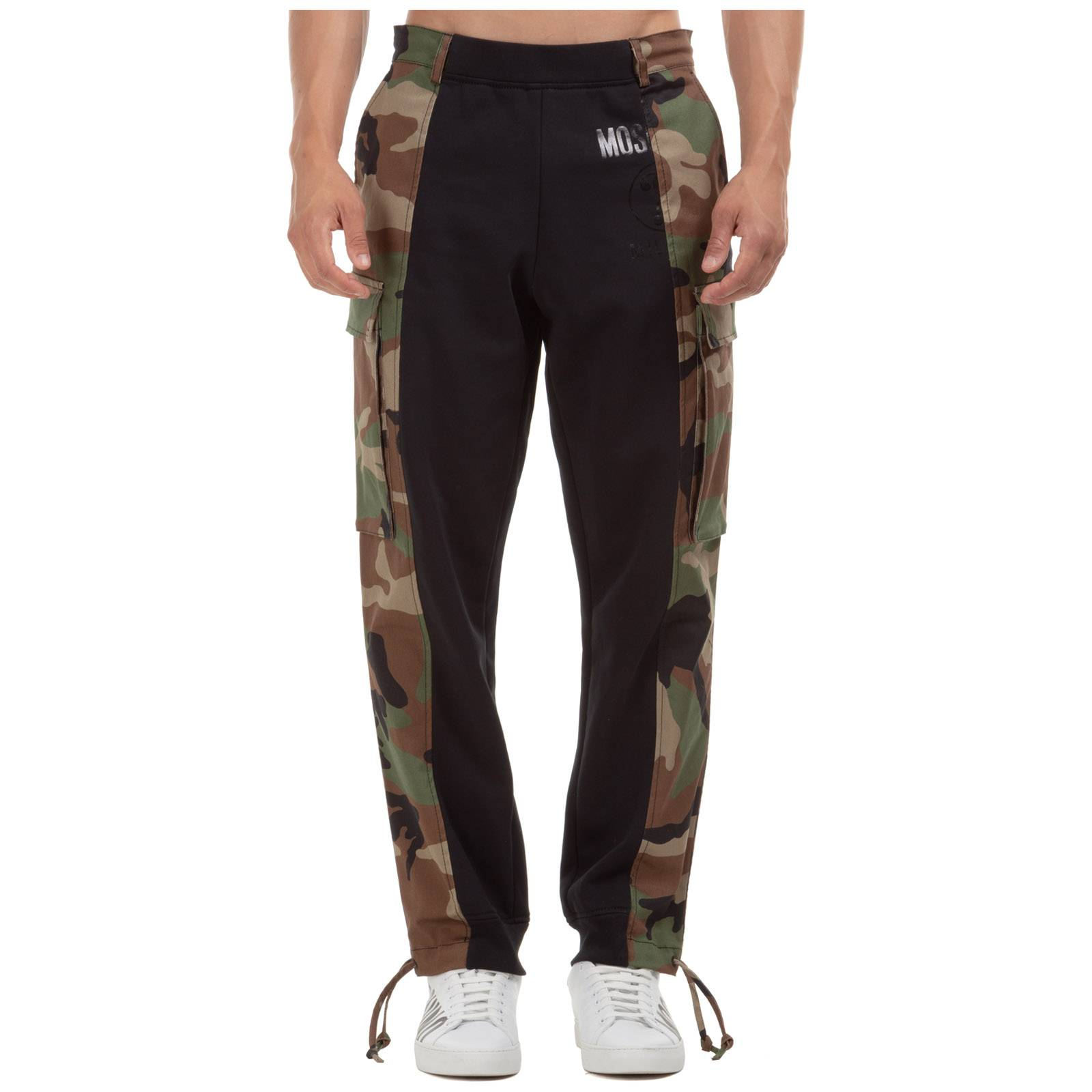 Moschino Men's sport tracksuit trousers  - Grey - Size: 50