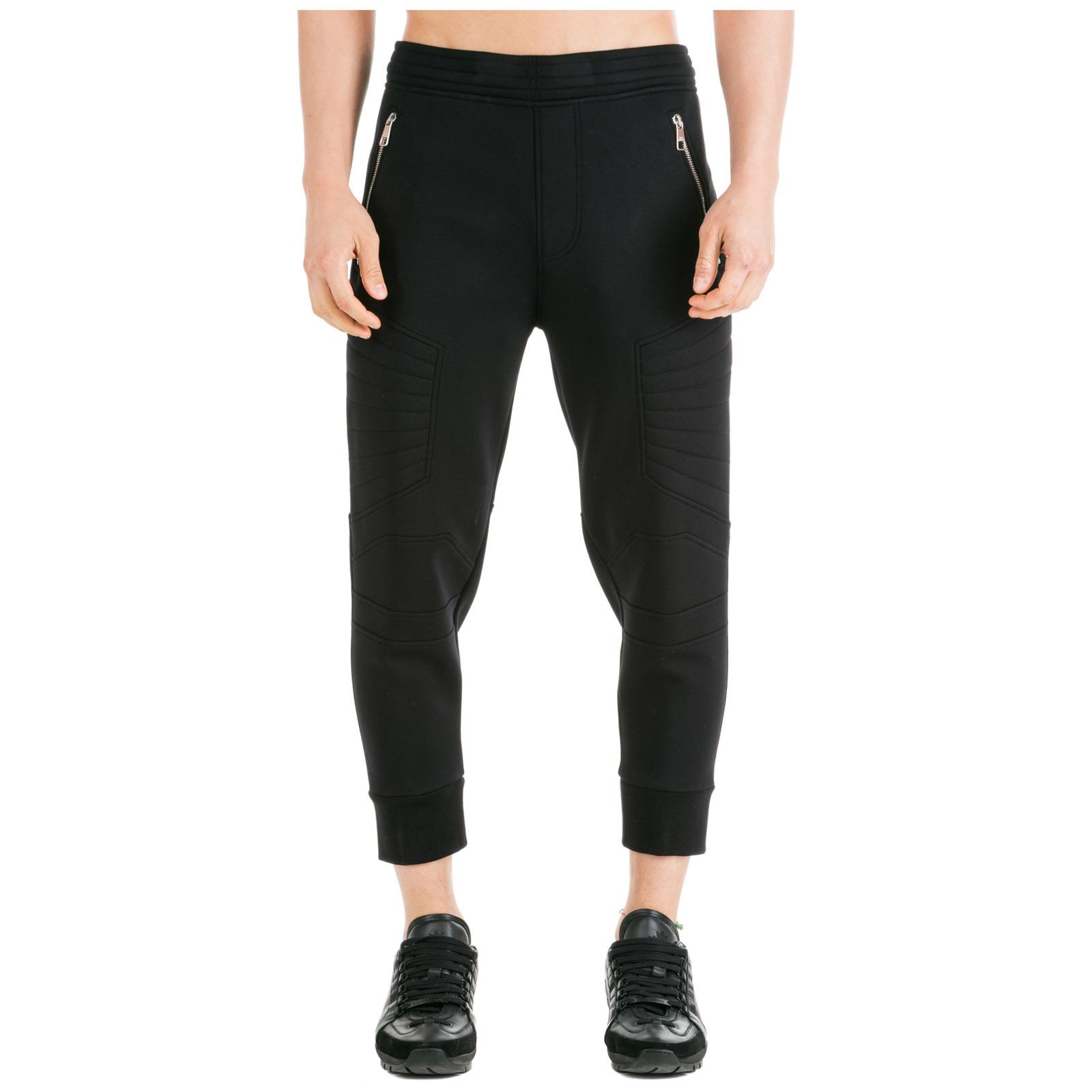 Neil Barrett Men's sport tracksuit trousers travel motocross skinny  - Black - Size: Extra Large