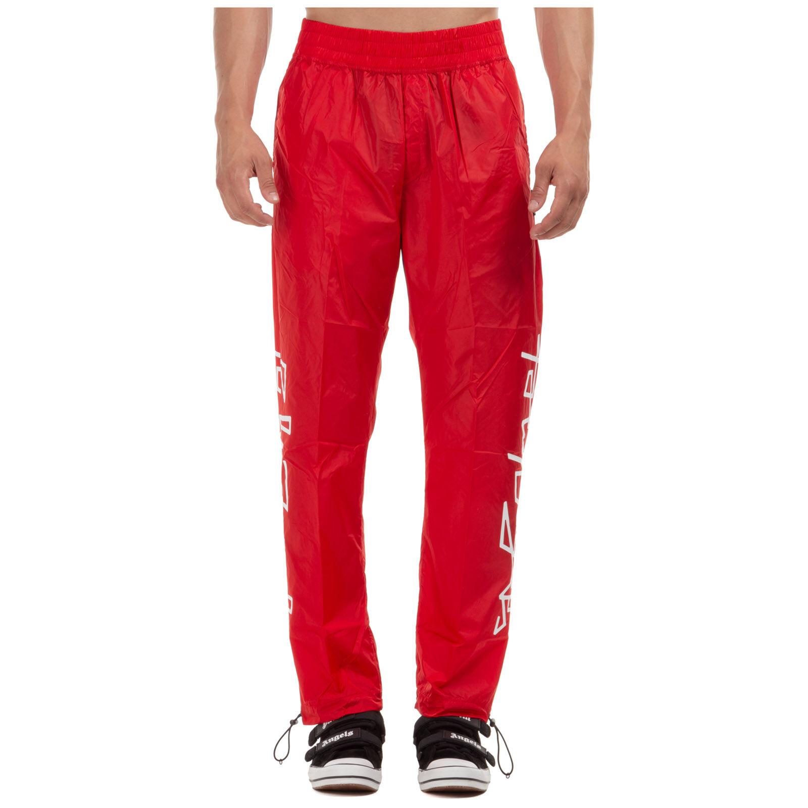 Palm Men's sport tracksuit trousers desert logo  - Red - Size: Medium