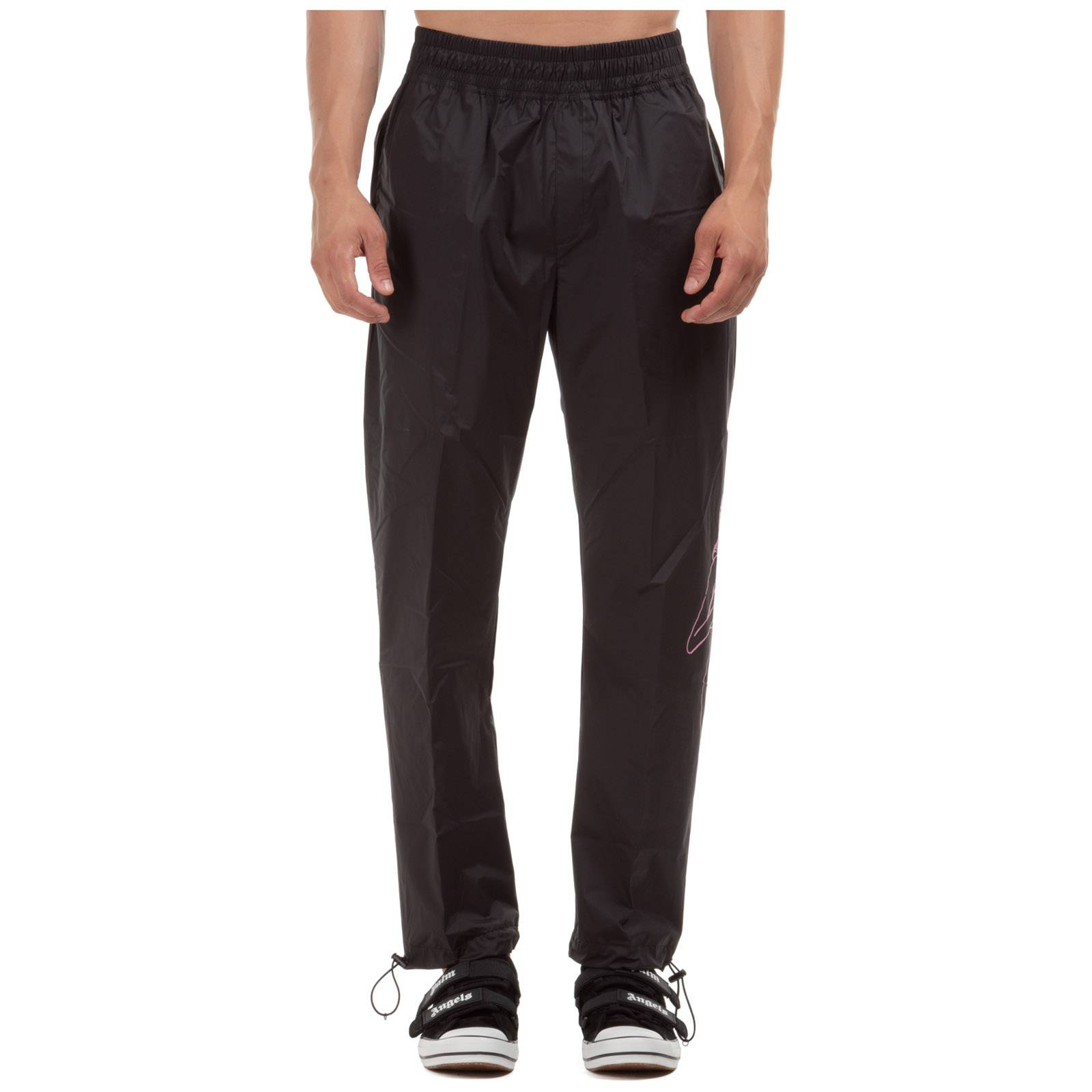 Palm Men's sport tracksuit trousers exotic woman aftersports  - Black - Size: Large