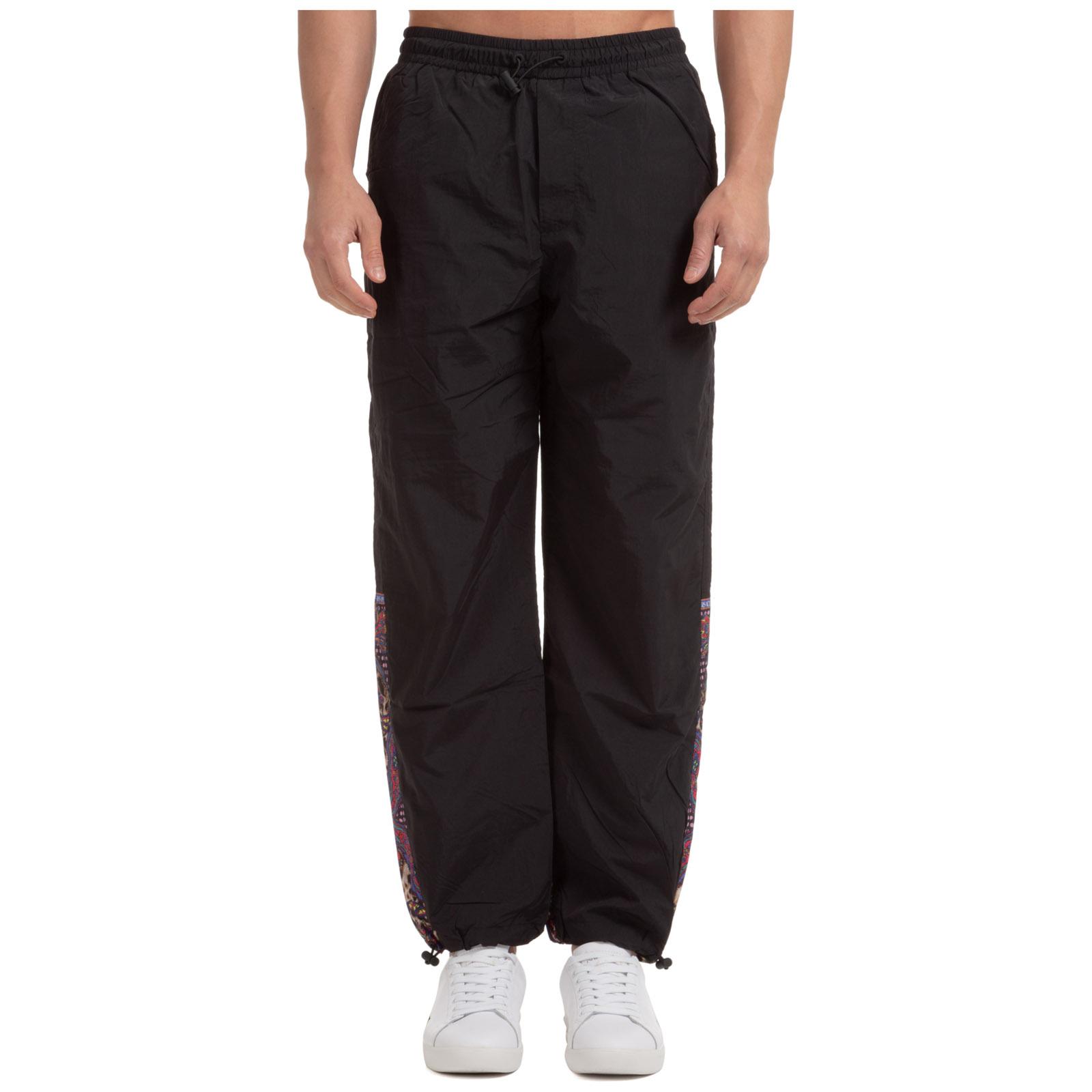 Versace Men's sport tracksuit trousers  - Black - Size: 46