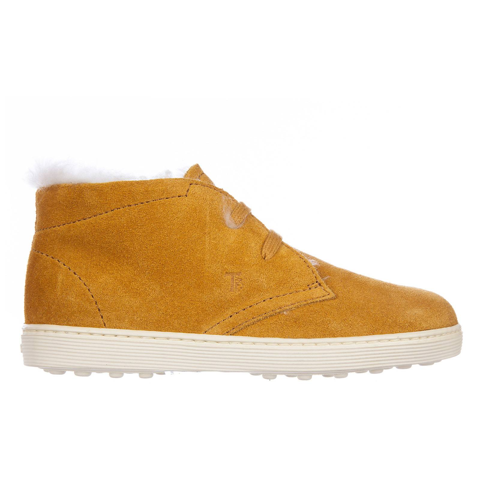 Tod's Boys suede leather child desert boots ankle boots sport cassetta  - Yellow - Size: 23