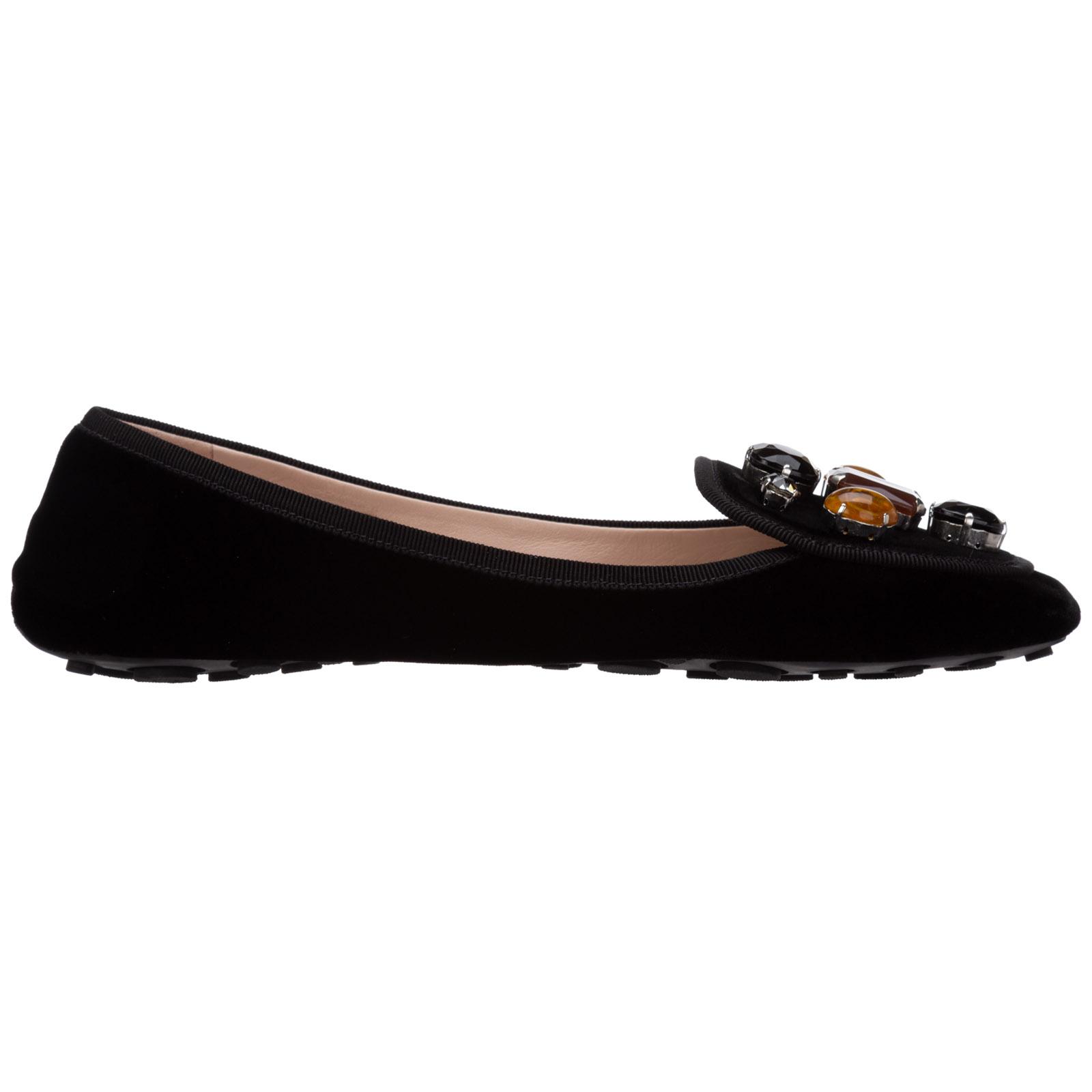 Car Shoe Women's ballet flats ballerinas  - Black - Size: 38