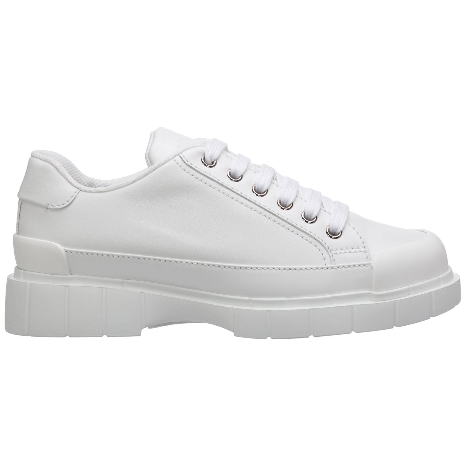 Car Shoe Women's shoes leather trainers sneakers  - White - Size: 37