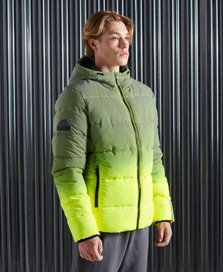 Superdry Ombre Sports Puffer Jacket [male]  size: L;  Yellow