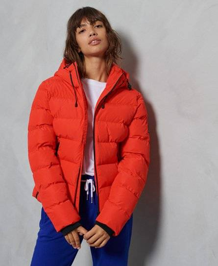 Superdry Spirit Sports Puffer Jacket [female]  size: 6;  Red