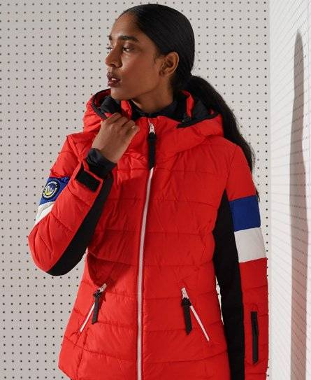 Superdry Sport Alpine Revive Puffer Jacket [female]  size: 8;  Red