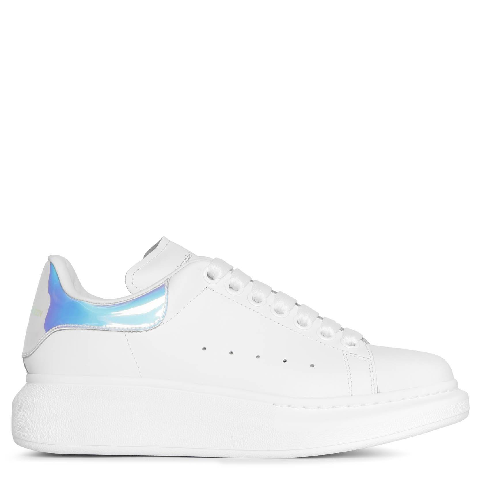 Alexander McQueen White and holographic classic sneakers  - white/pink - female - Size: 37