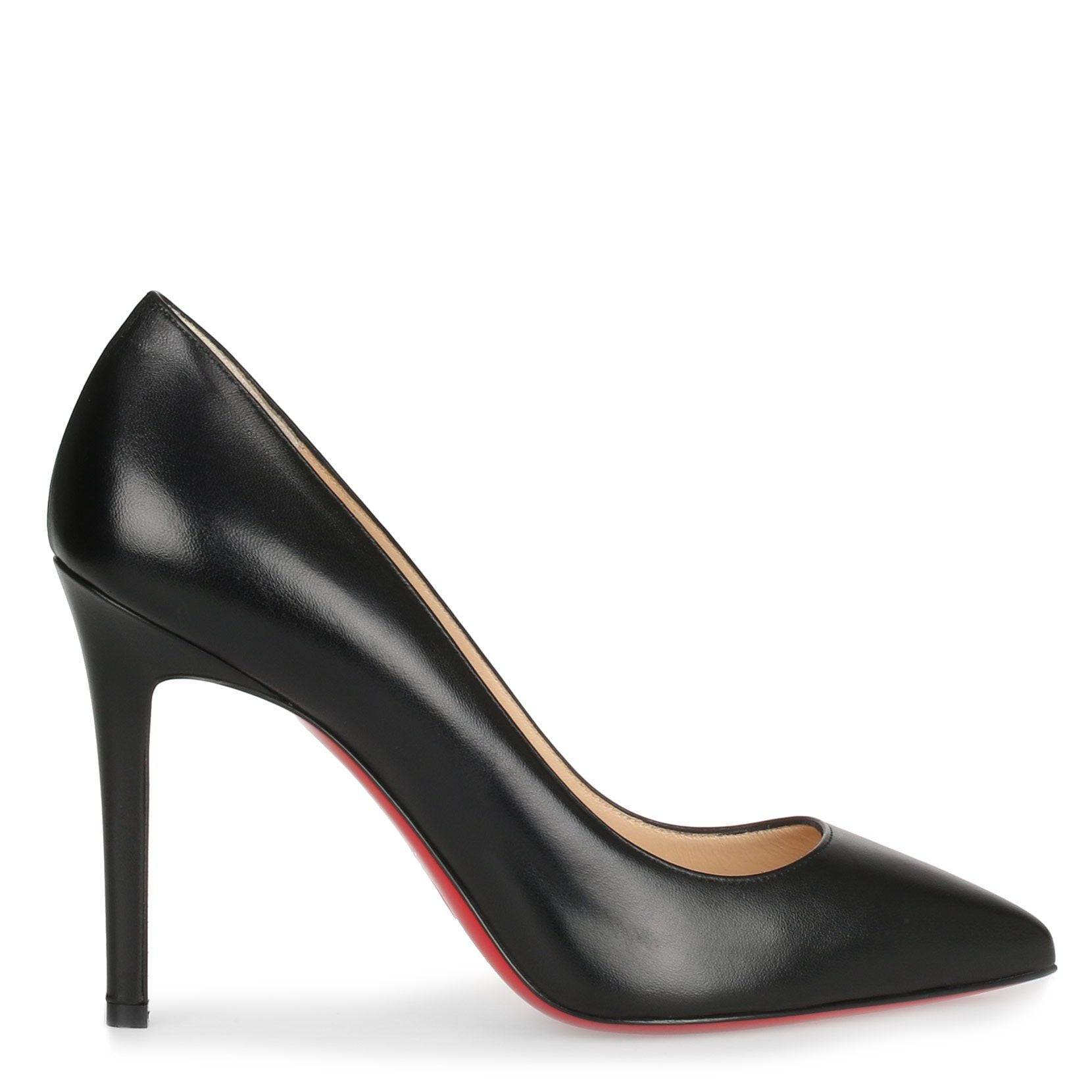 Christian Louboutin Pigalle 100 black leather pump  - Black - female - Size: 40.5