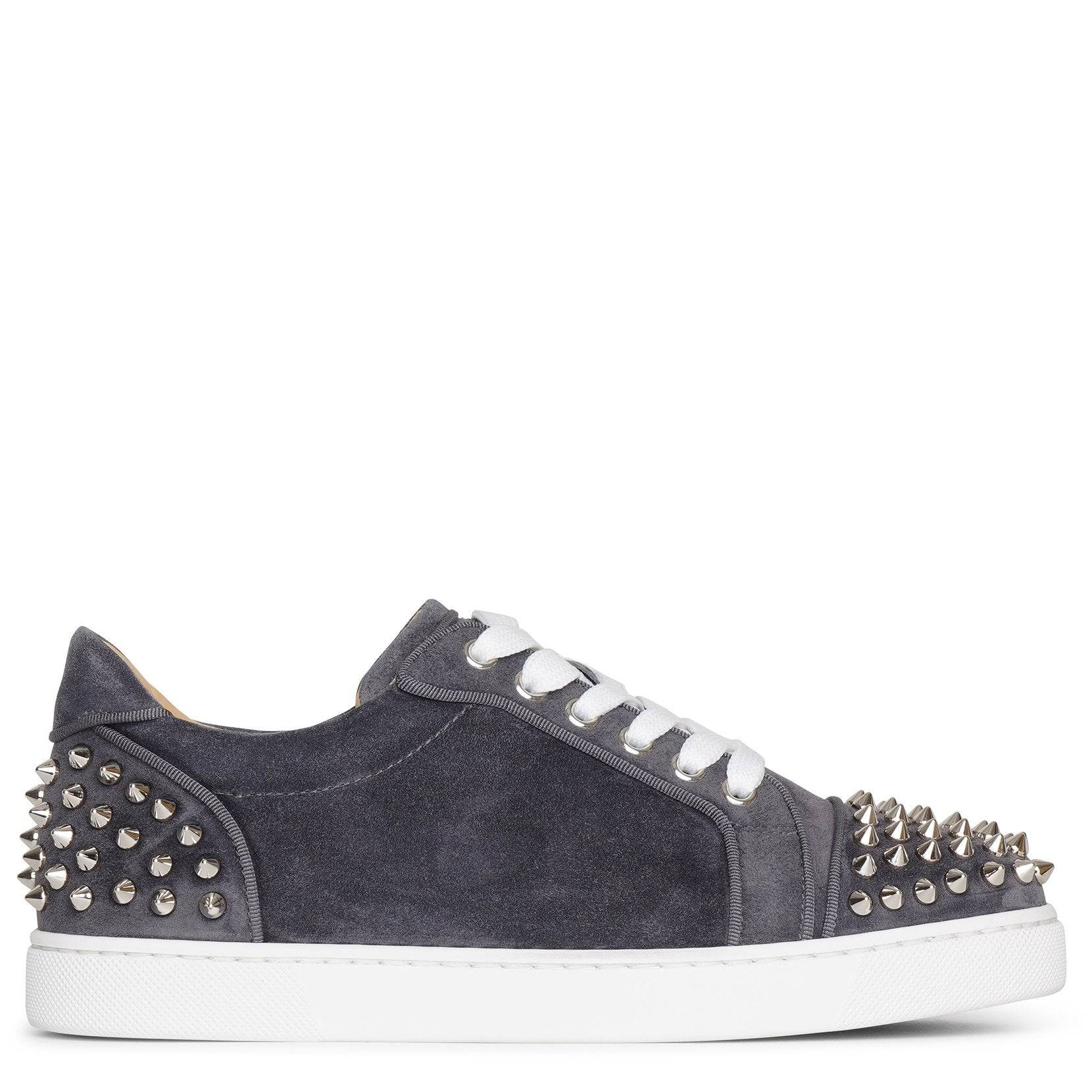 Christian Louboutin Vieira 2 flat smoky suede sneakers  - grey - female - Size: 36