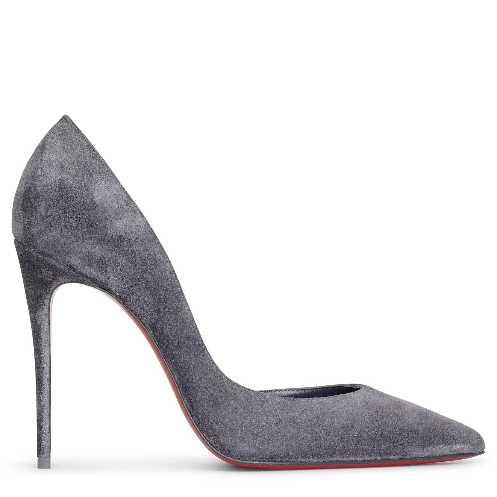Christian Louboutin Iriza 100 smoky suede pumps  - grey - female - Size: 36.5