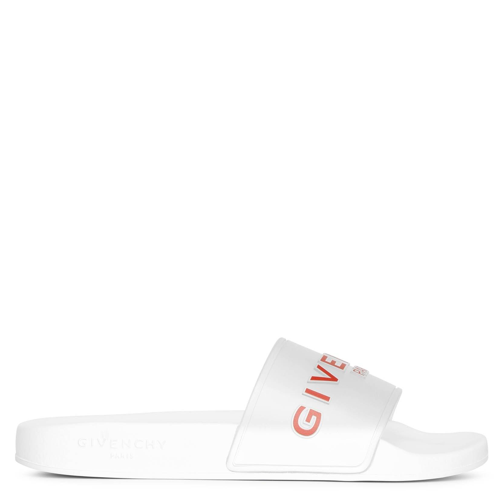 Givenchy Clear and white rubber slides sandals  - white/transparent/red - female - Size: 37