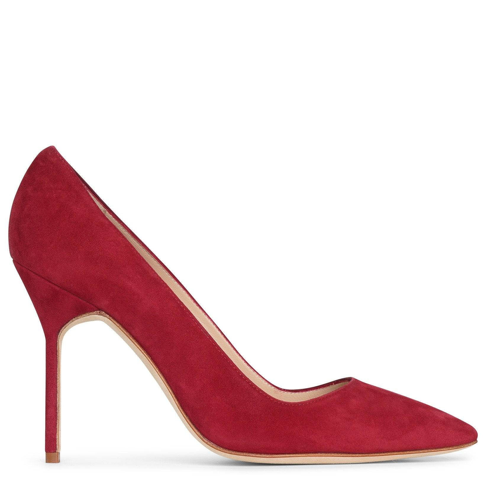 Manolo Blahnik BB 105 deep red suede pumps  - red - female - Size: 40