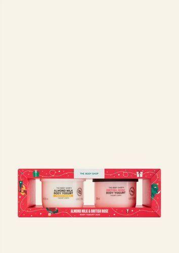 The Body Shop Almond Milk & British Rose Body Yogurt Duo