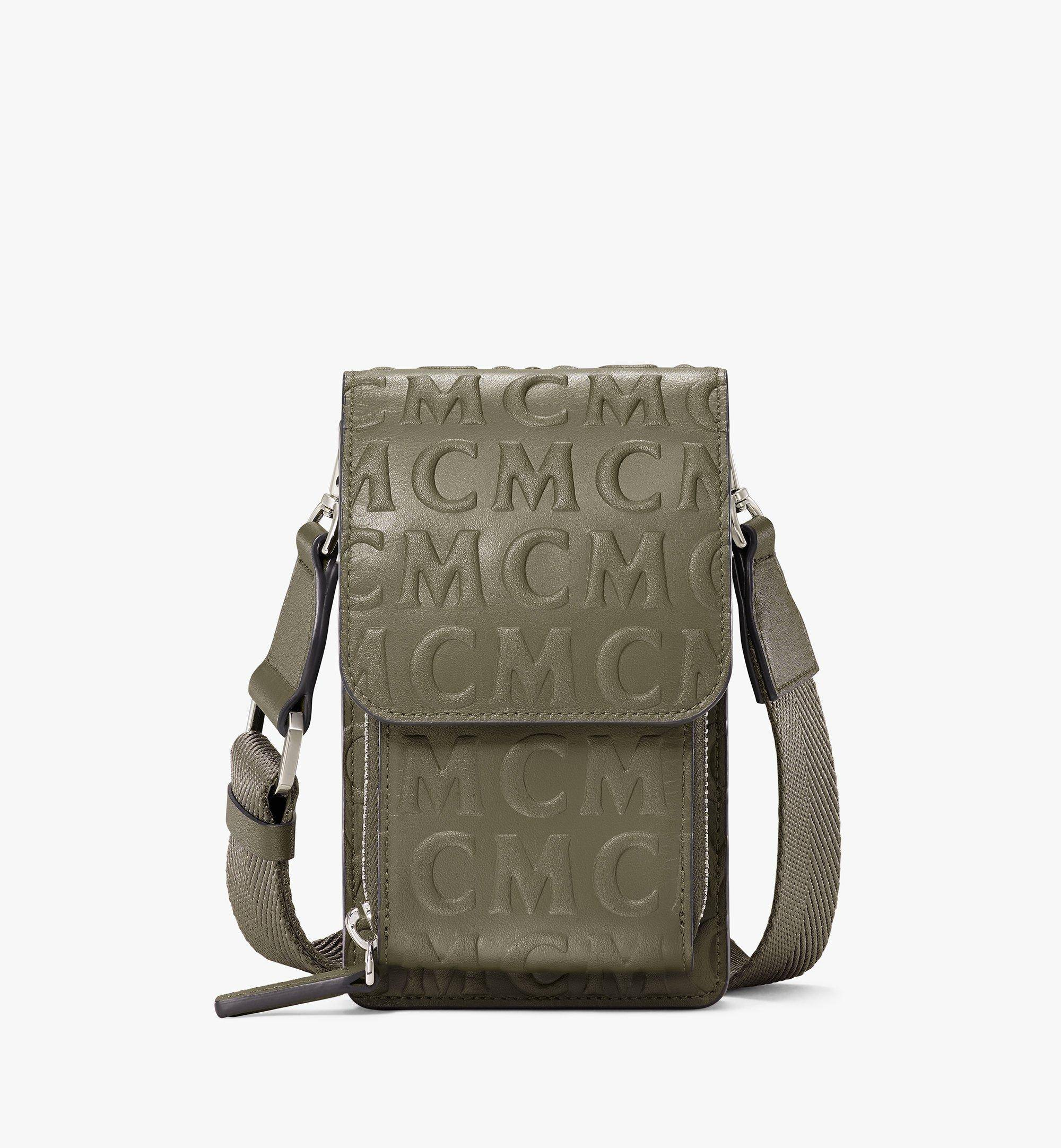 MCM Crossbody Phone Case In Mcm Monogram Leather  - SEA TURTLE - Size: FFF