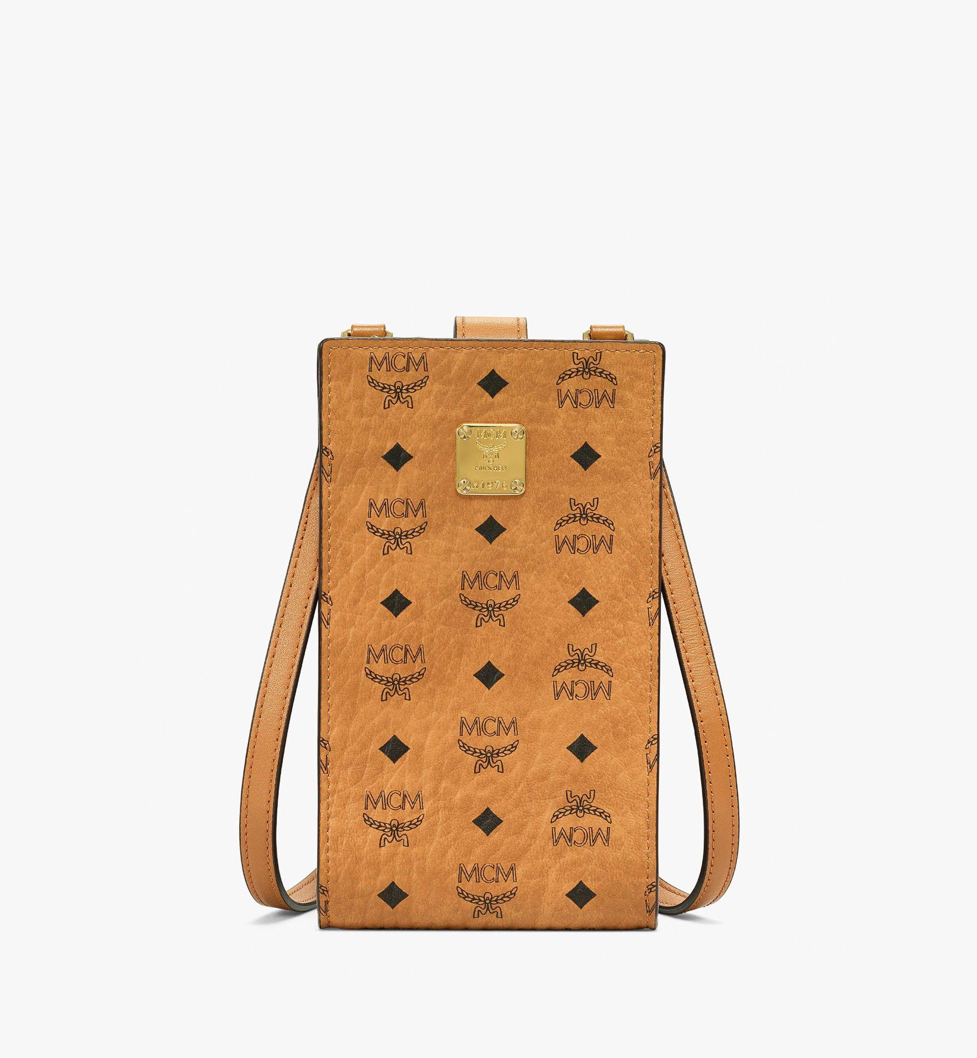 MCM Multifunction Phone Case In Visetos Original  - COGNAC - Size: FFF