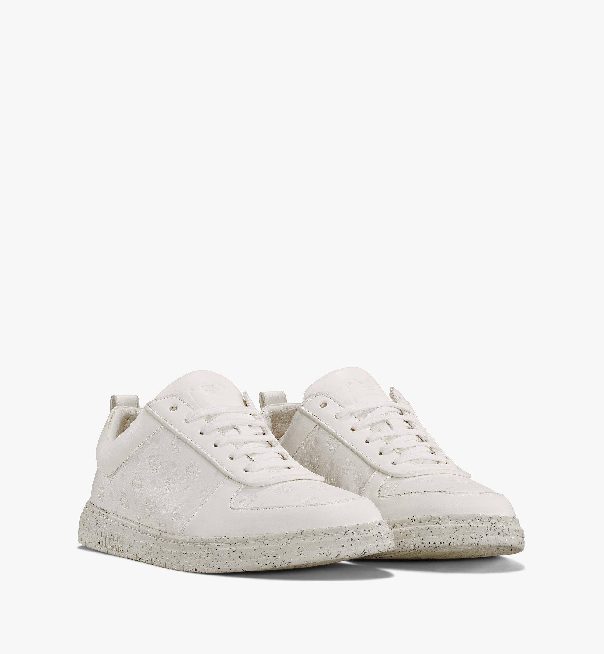 MCM Men's Sustainable Terrain Lo Sneakers  - WHITE - Size: 043