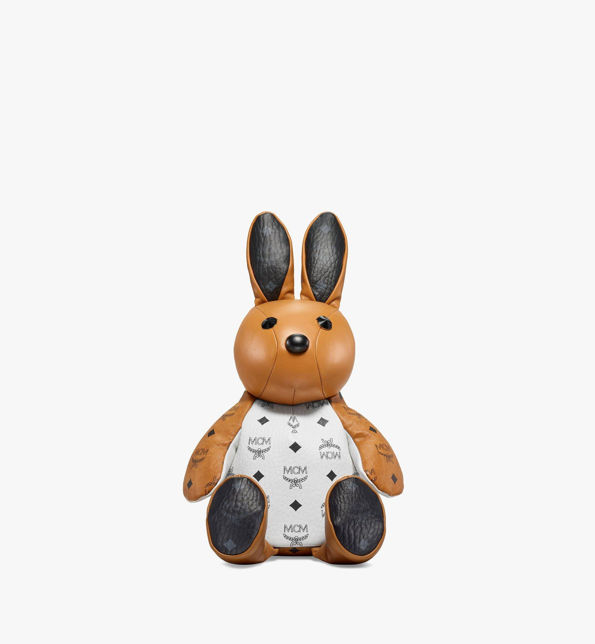 Mcm Zoo Rabbit Backpack In Visetos Leather Mix  - COGNAC - Size: MNI