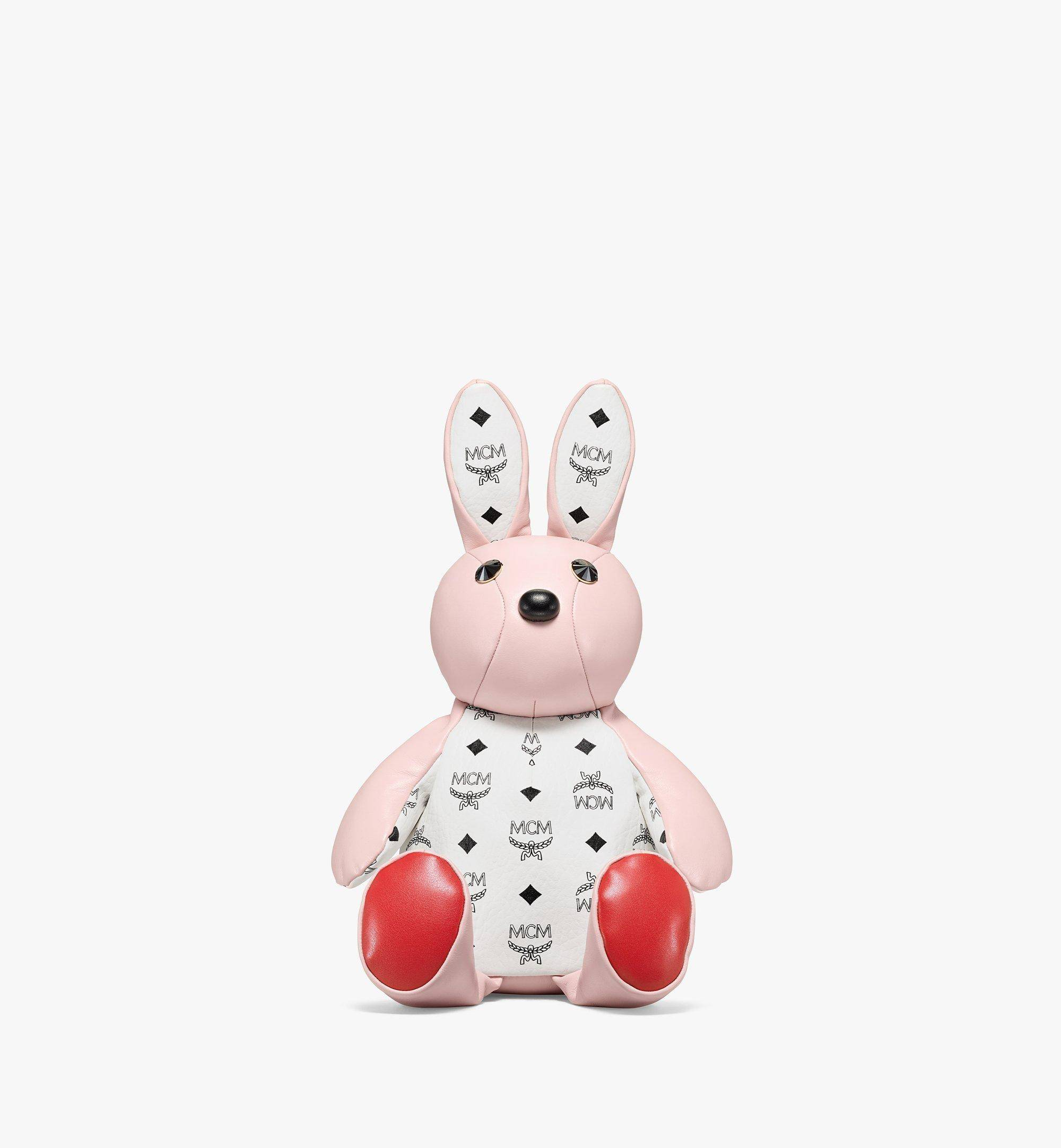 Mcm Zoo Rabbit Backpack In Visetos Leather Mix  - POWDER PINK - Size: MNI