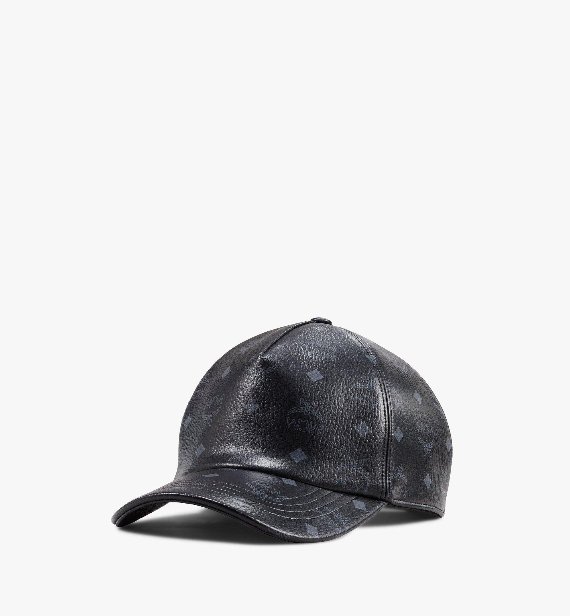 MCM Classic Cap In Visetos  - BLACK - Size: FFF