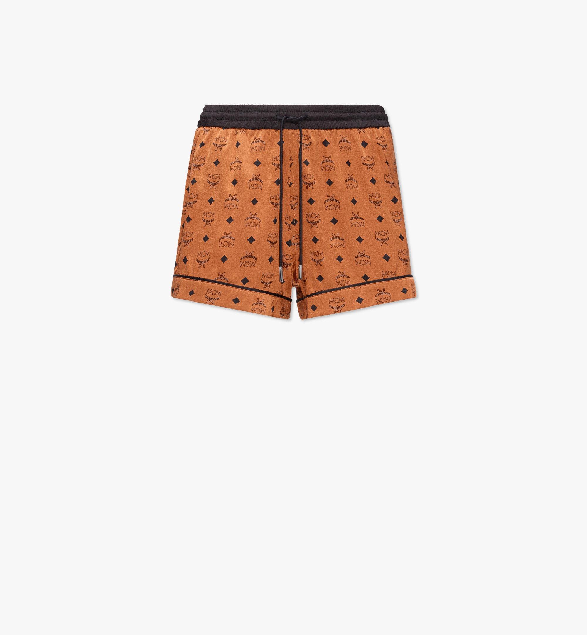MCM Women's Silk Sleep Shorts  - COGNAC - Size: LRG