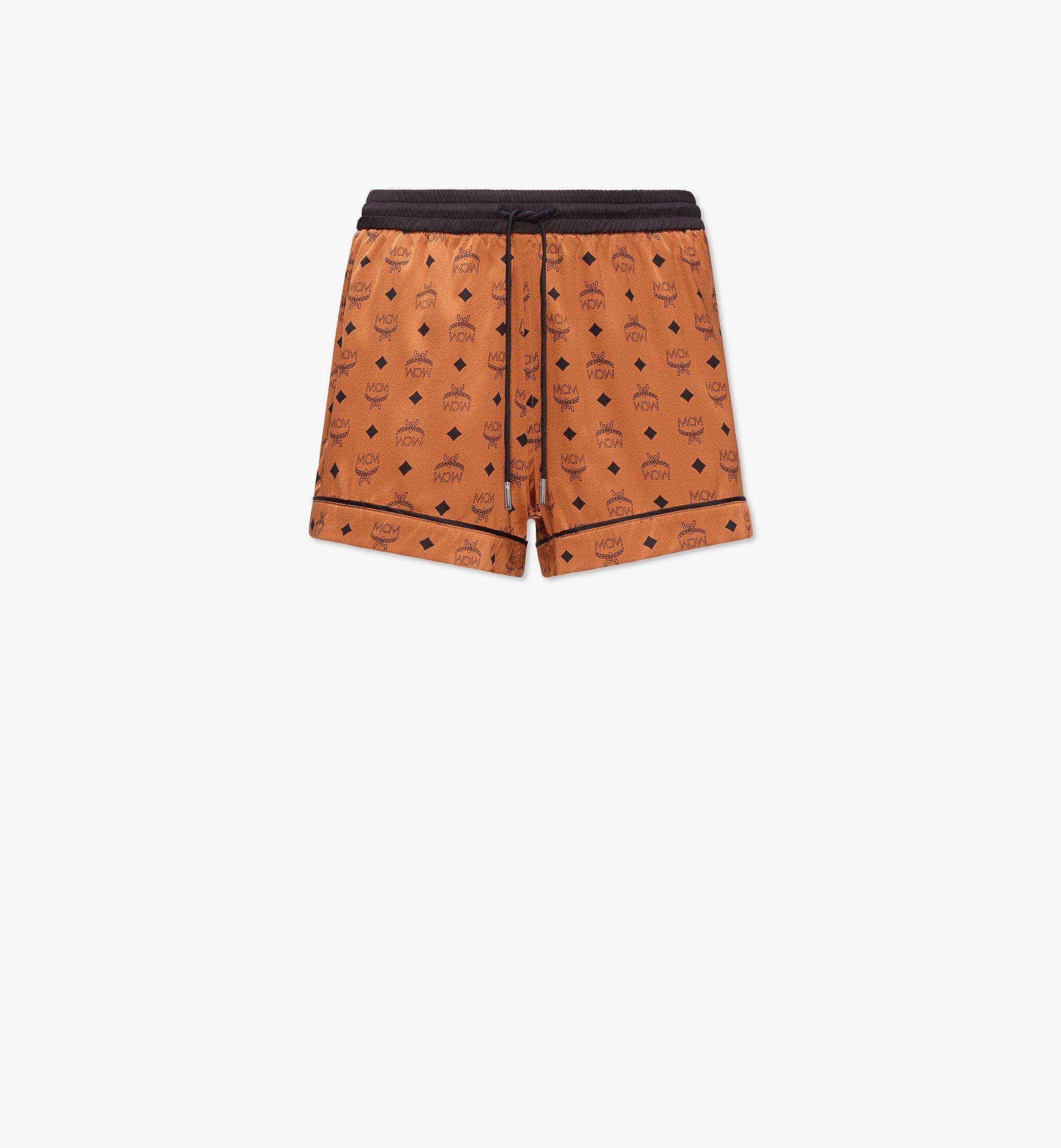 MCM Women's Silk Sleep Shorts  - COGNAC - Size: Small