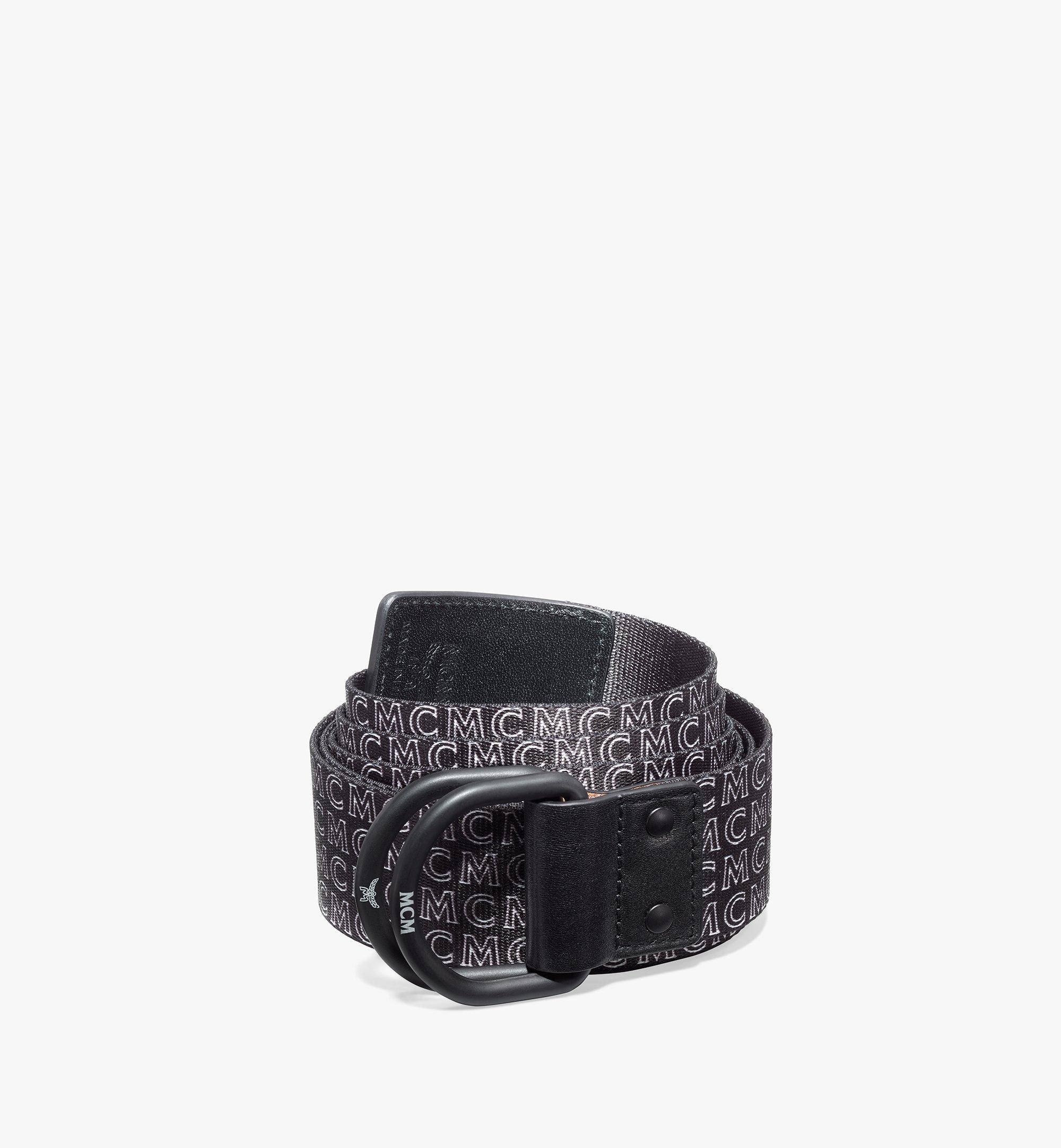 "MCM Ring Webbing Belt 1.5""  - BLACK - Size: ADJ"