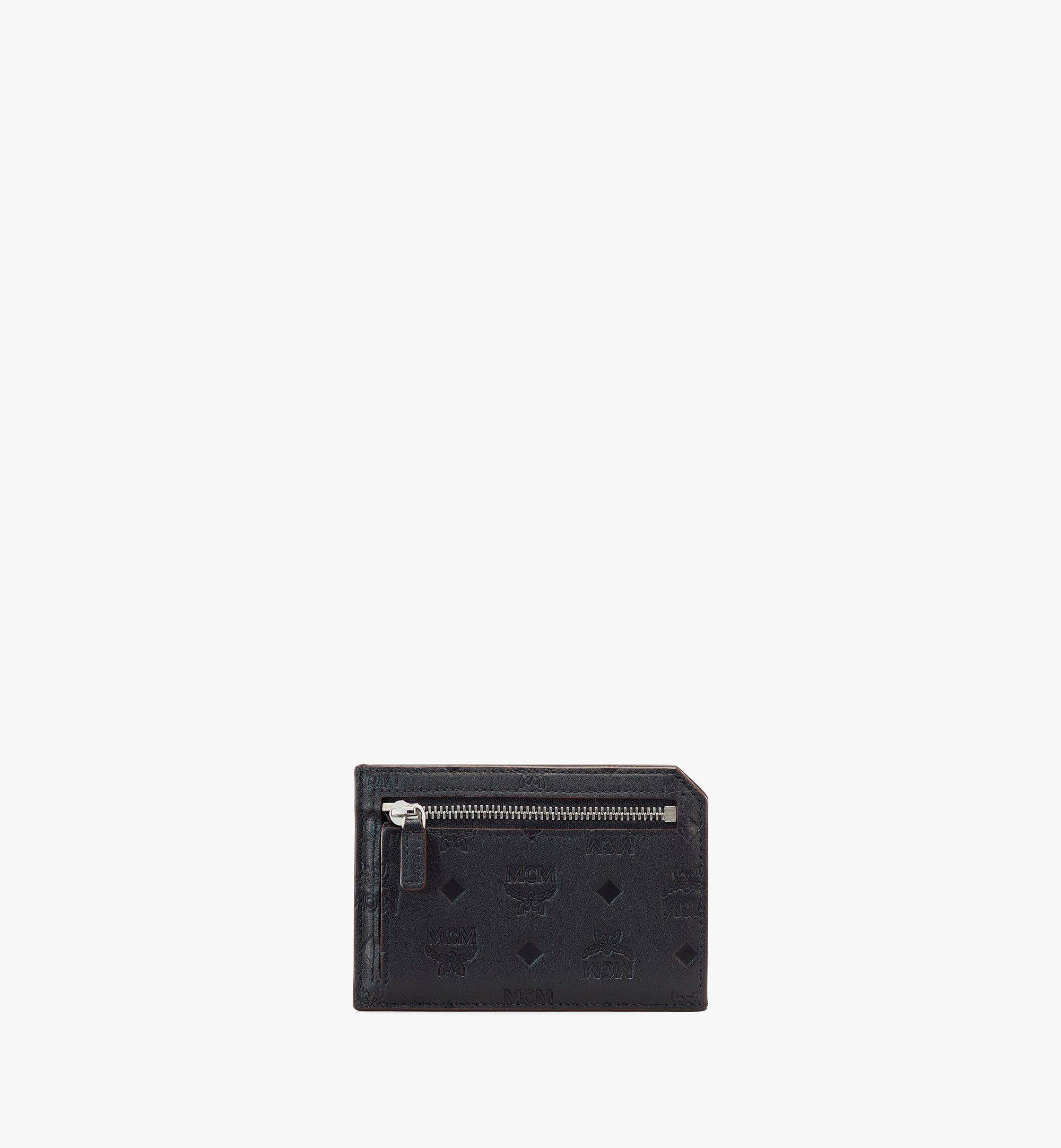 MCM Klara Multifunction Card Holder In Monogram Leather  - BLACK - Size: MNI