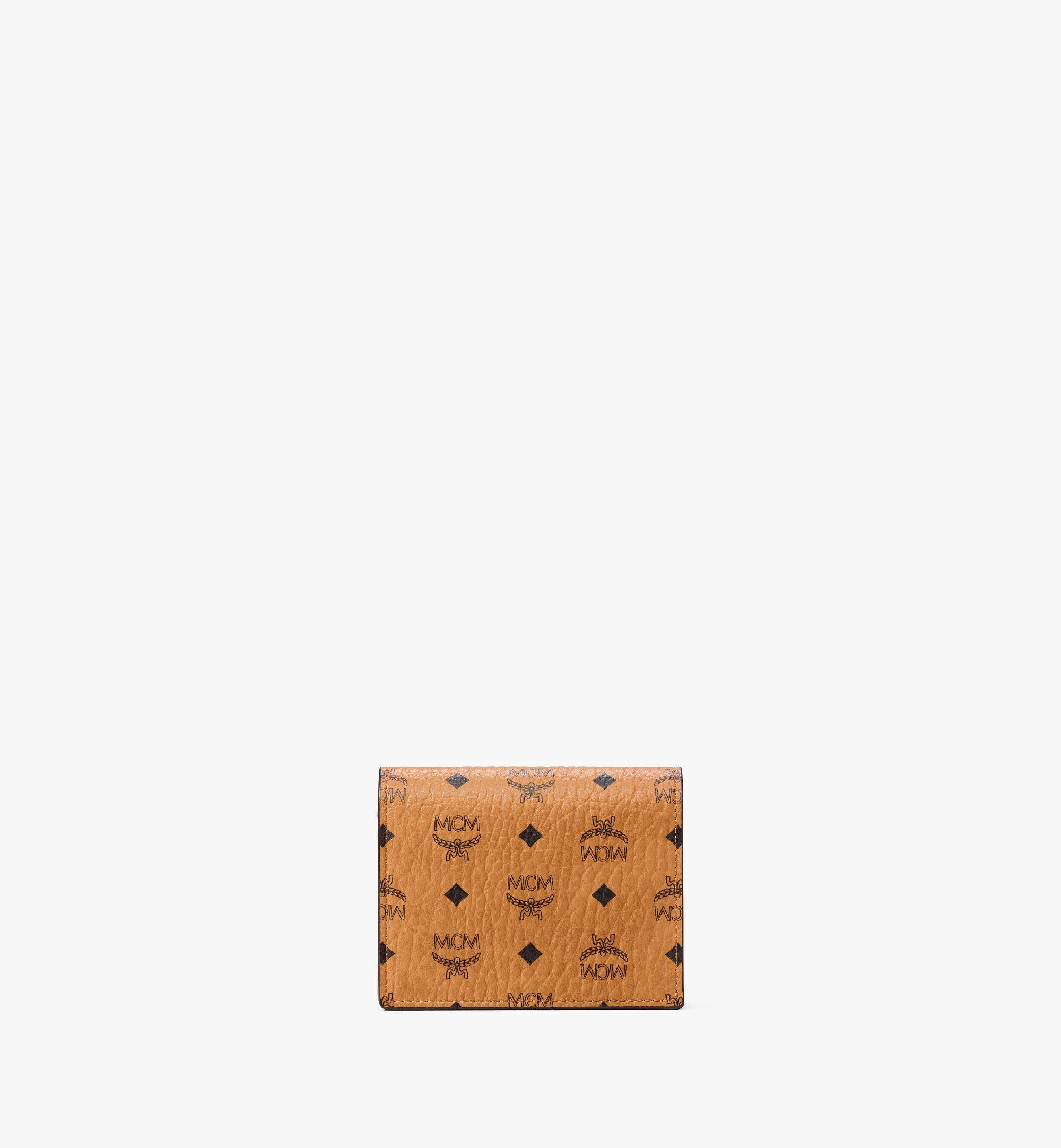 MCM Chain Wallet In Visetos Original  - COGNAC - Size: MNI