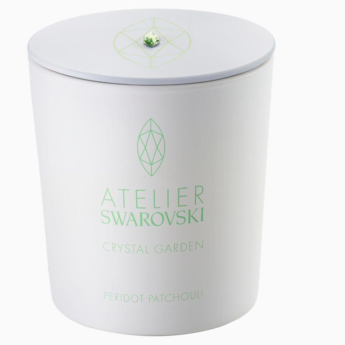 Swarovski Crystal Garden Candle, Green, Peridot Patchouli