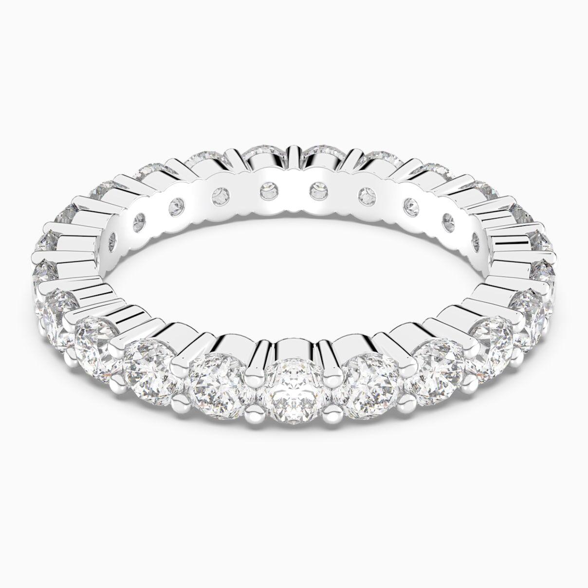 Swarovski Vittore XL Ring, White, Rhodium plated