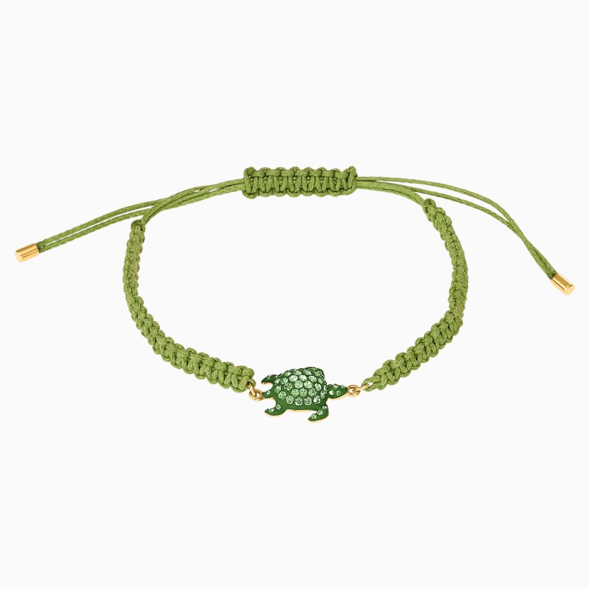 Swarovski Mustique Sea Life Turtle Bracelet, Green, Gold-tone plated