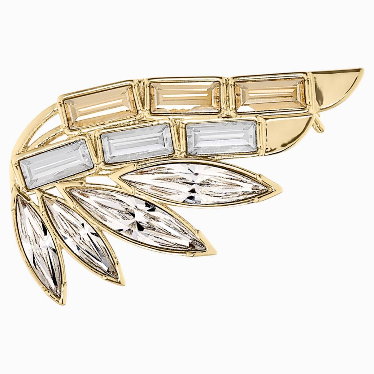 Swarovski Wonder Woman Brooch, Gold tone, Gold-tone plated