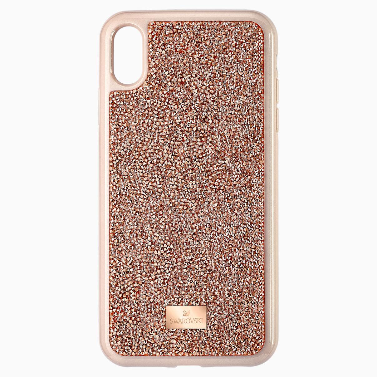Swarovski Glam Rock Smartphone Case, iPhone® XS Max, Rose gold tone