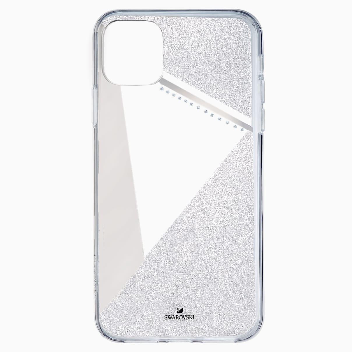 Swarovski Subtle Smartphone Case with Bumper, iPhone® 11 Pro Max, Silver tone