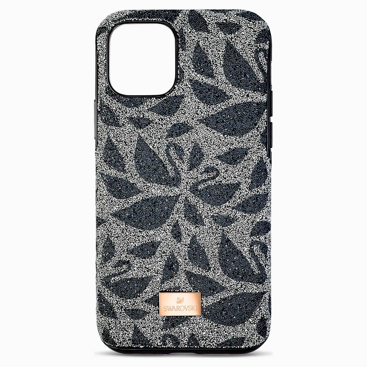 Swarovski Swanflower Smartphone Case with Bumper, iPhone® 11 Pro Max, Black
