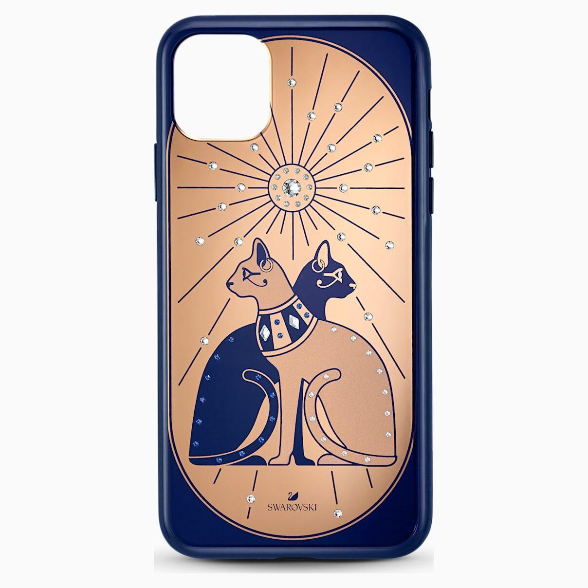 Swarovski Theatrical Cat Smartphone case with bumper, iPhone® 11 Pro Max, Multicolored