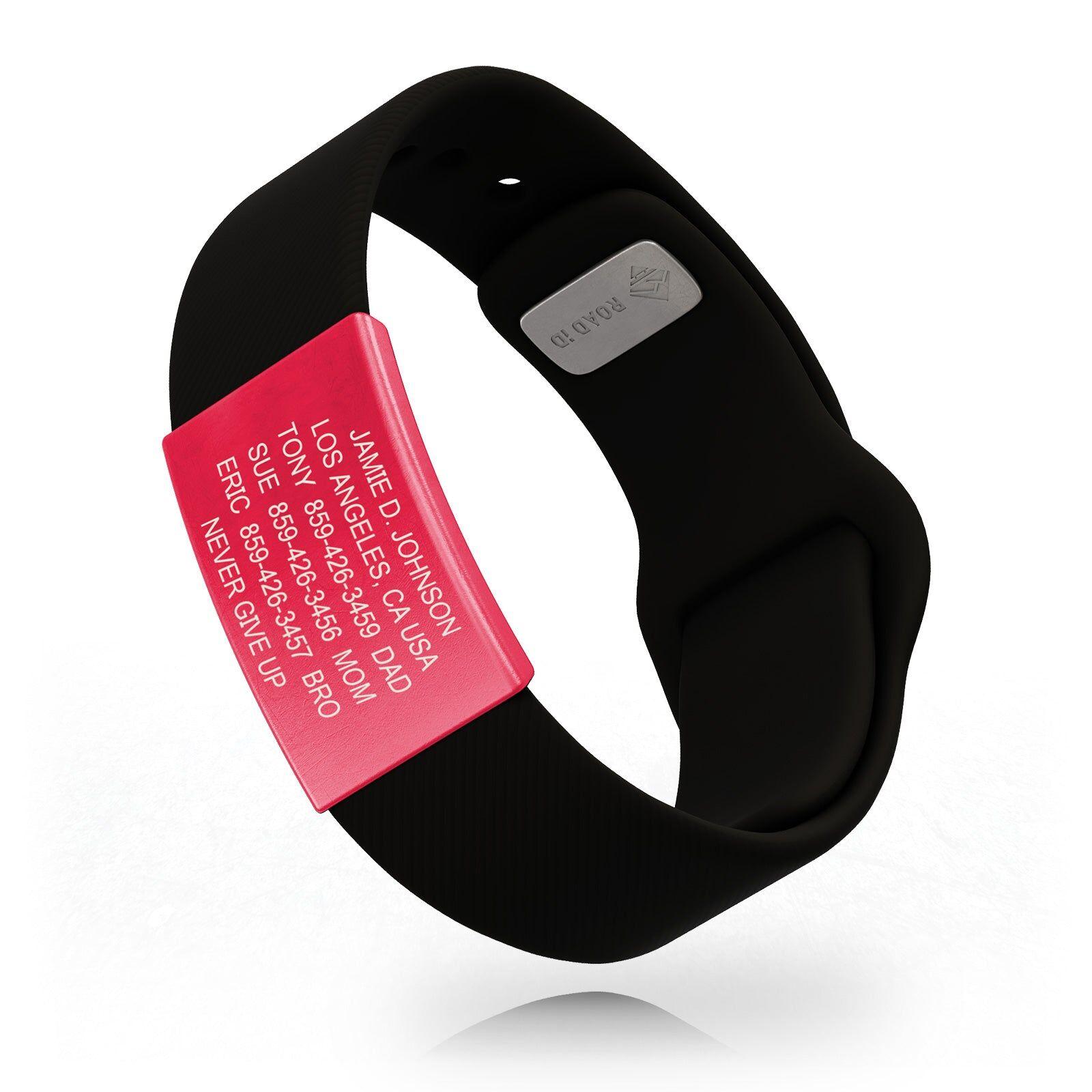 RoadId Limited Edition Wrist ID Sport Pin-Tuck Ember