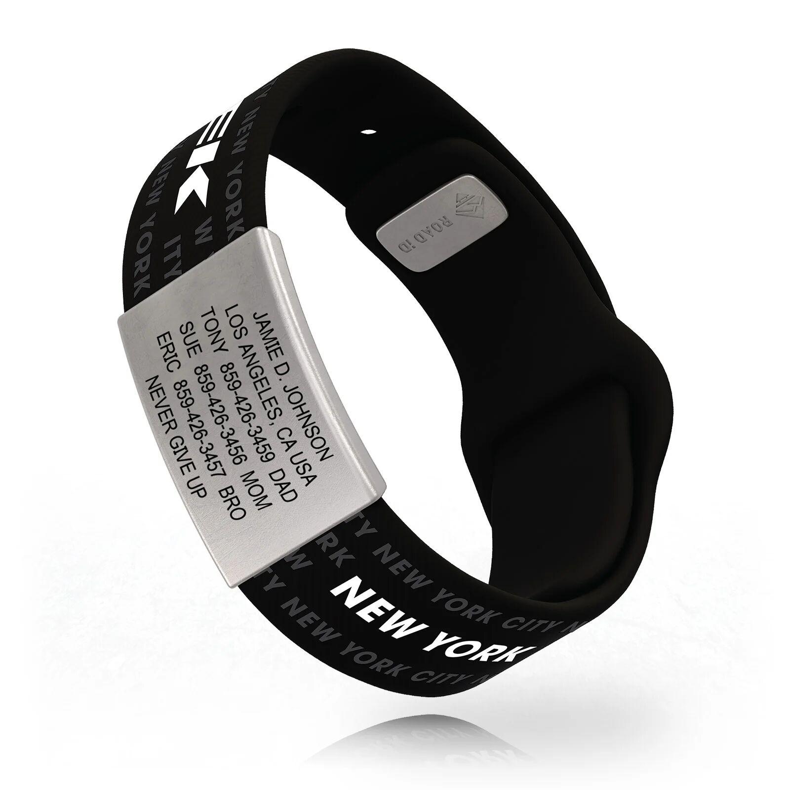 RoadId Trek NYC WRIST ID Sport Pin-Tuck