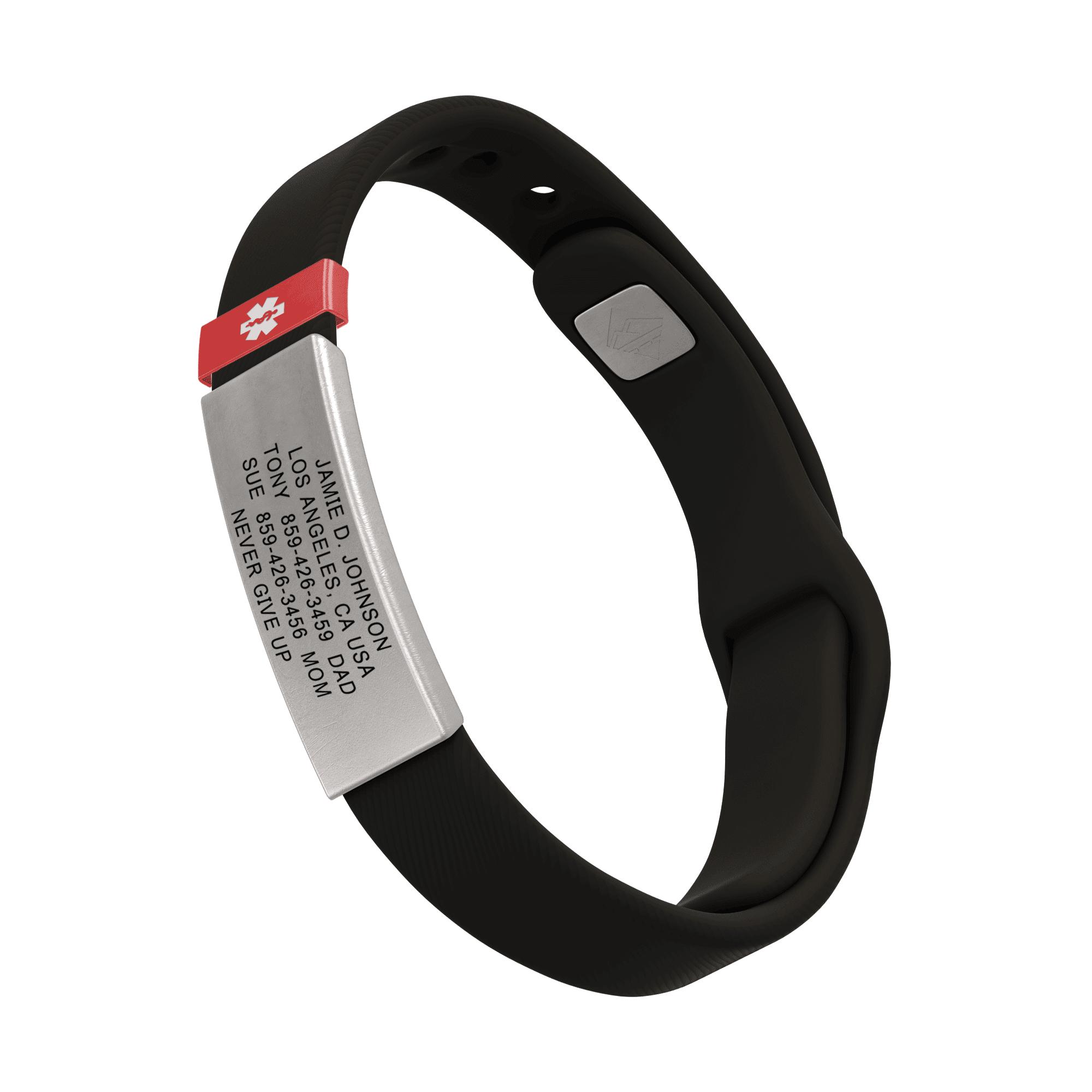 RoadId Medical ID Sport Pin-Tuck 13mm Slate