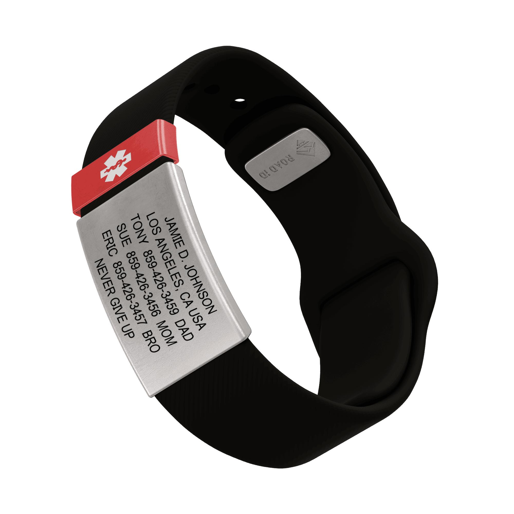 RoadId Medical ID Sport Pin-Tuck 19mm Slate