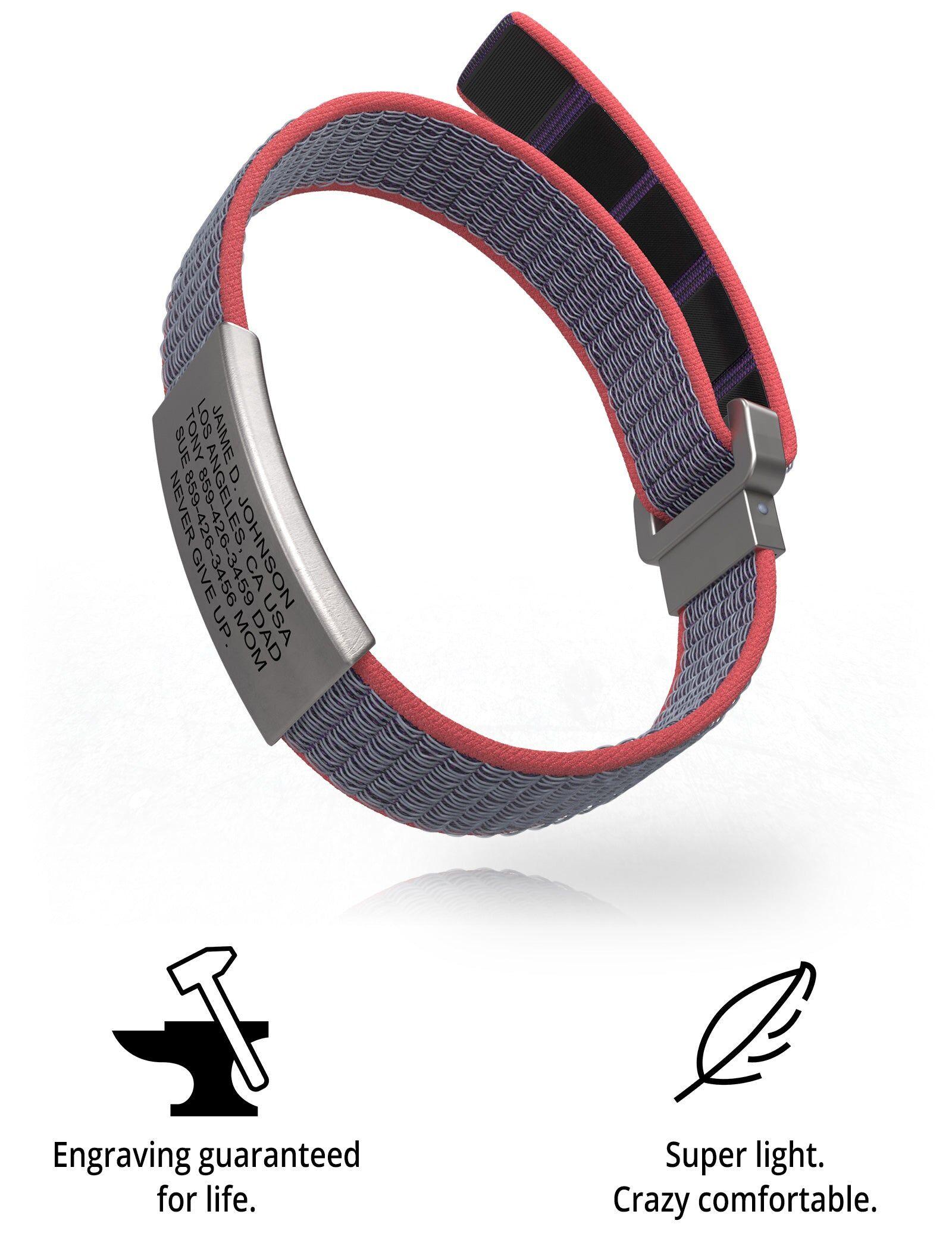 RoadId Wrist ID Sport Nylon Loop 13mm Slate