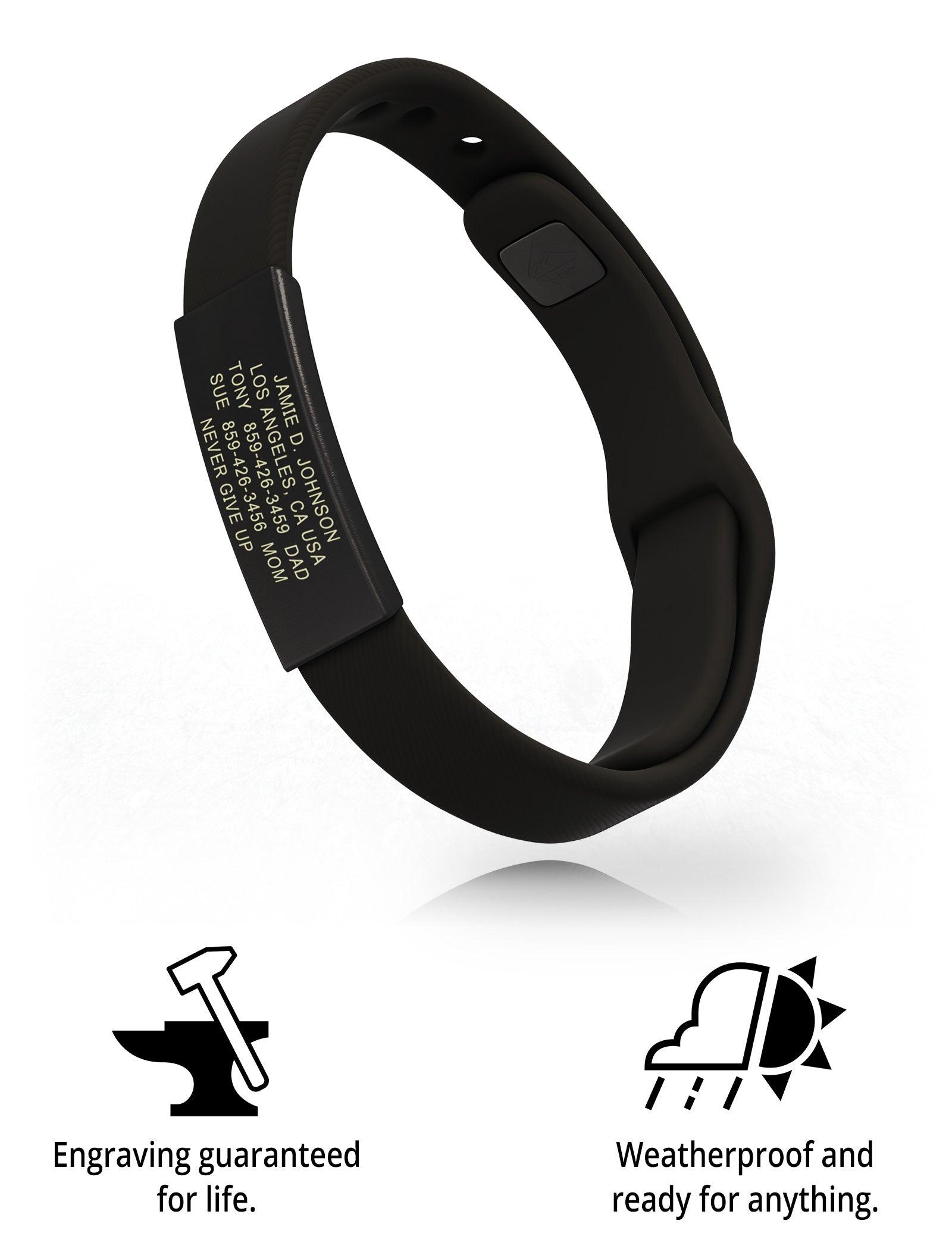 RoadId Wrist ID Sport Pin-Tuck 13mm Graphite