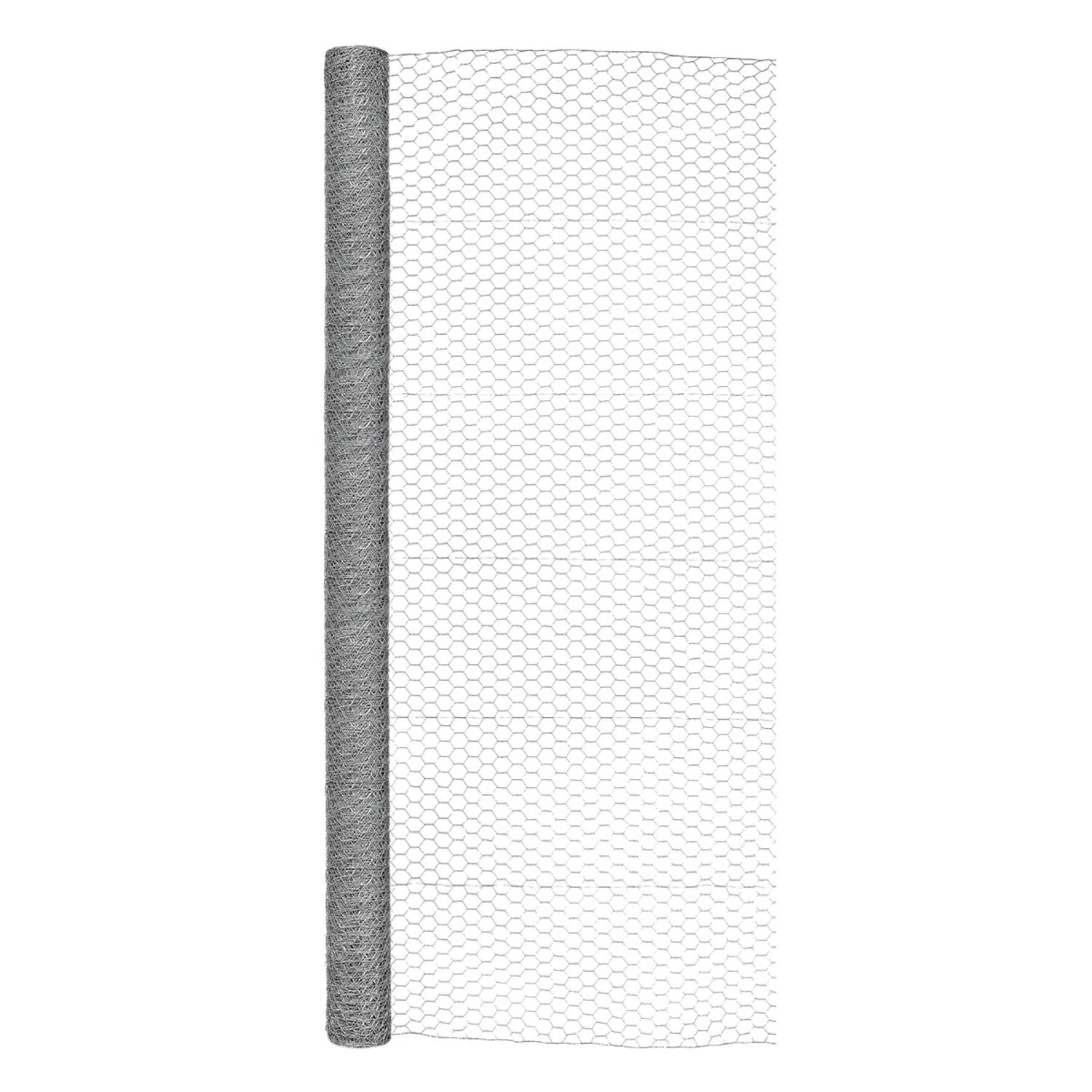 Garden Craft 72 in. H x 50 ft. L 20 Ga. Silver Poultry Netting